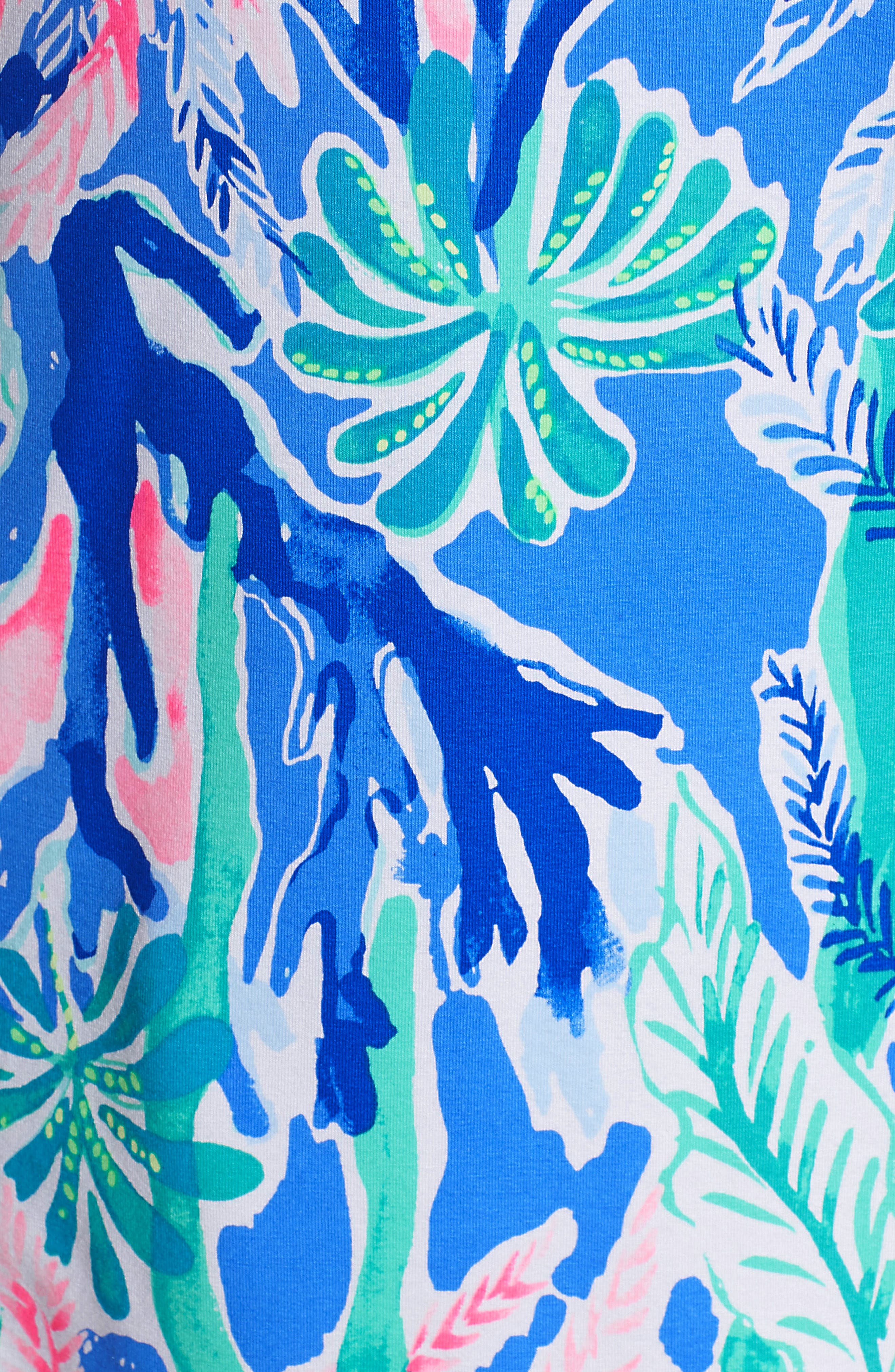 One-Shoulder Minidress,                             Alternate thumbnail 6, color,                             Multi Jet Stream