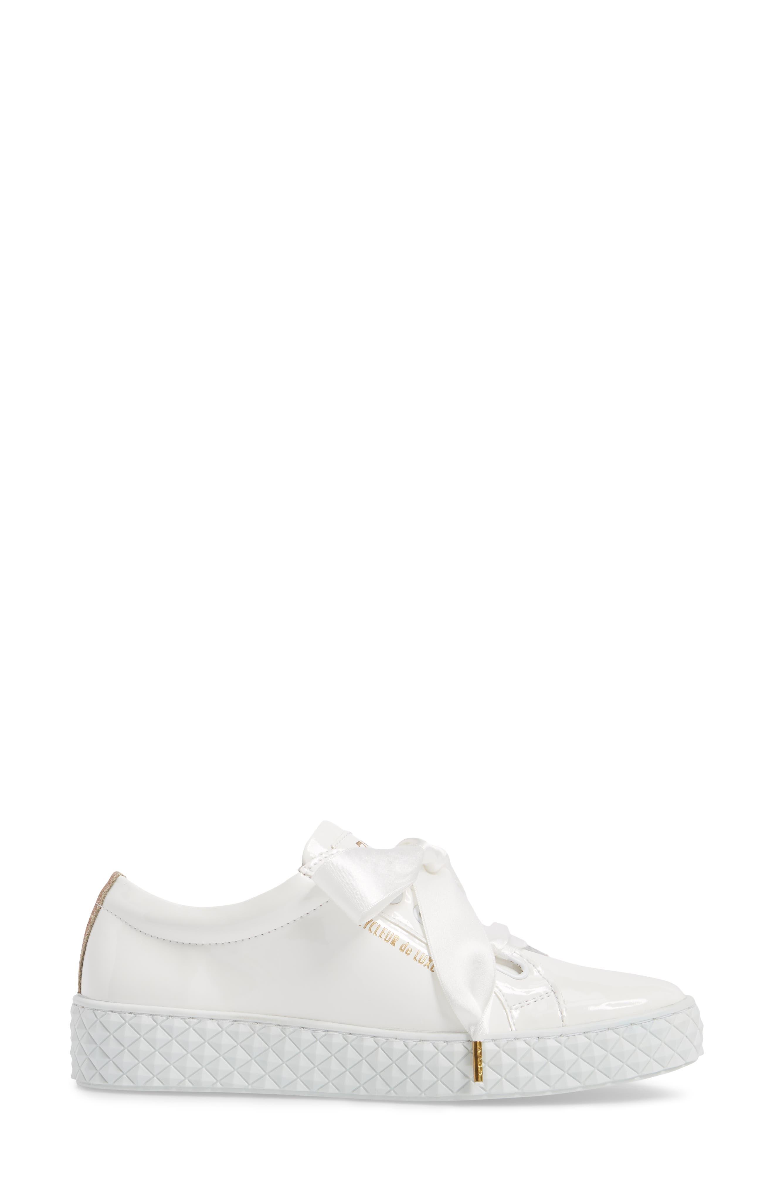 Acton Sneaker,                             Alternate thumbnail 3, color,                             White Patent