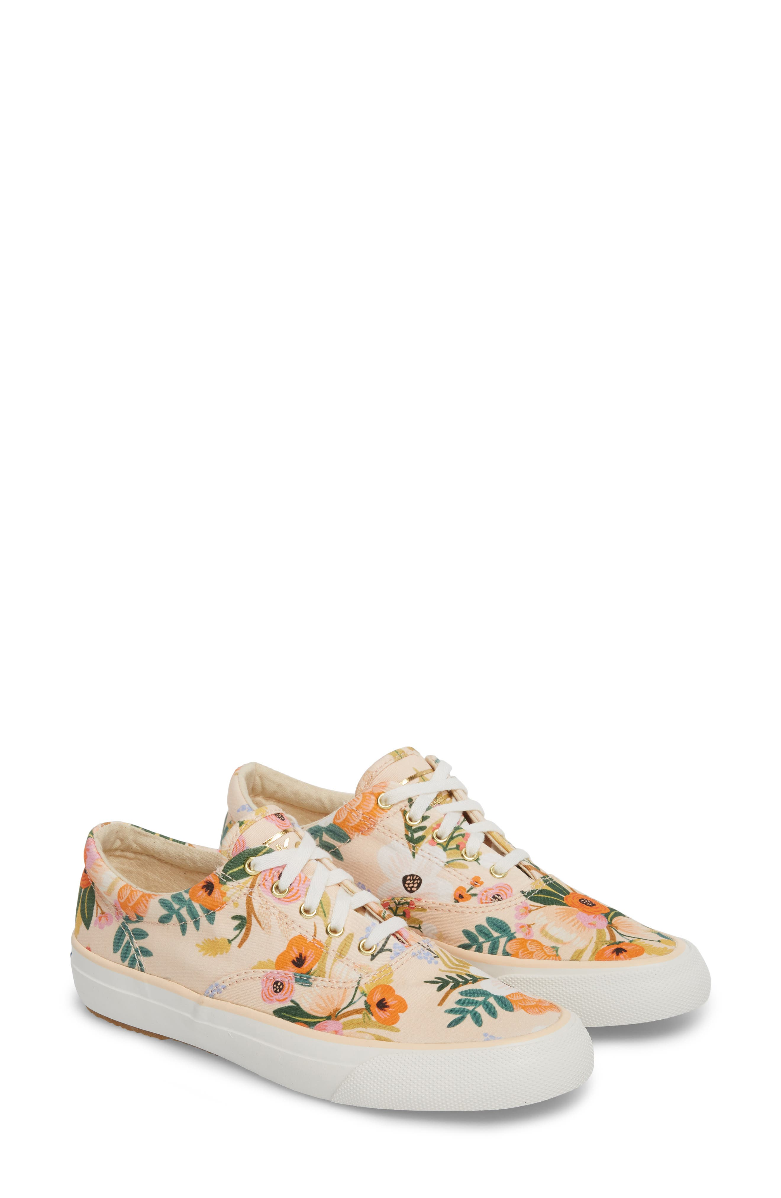x Rifle Paper Co. Anchor Lively Floral Slip-On Sneaker,                             Alternate thumbnail 3, color,                             Pink
