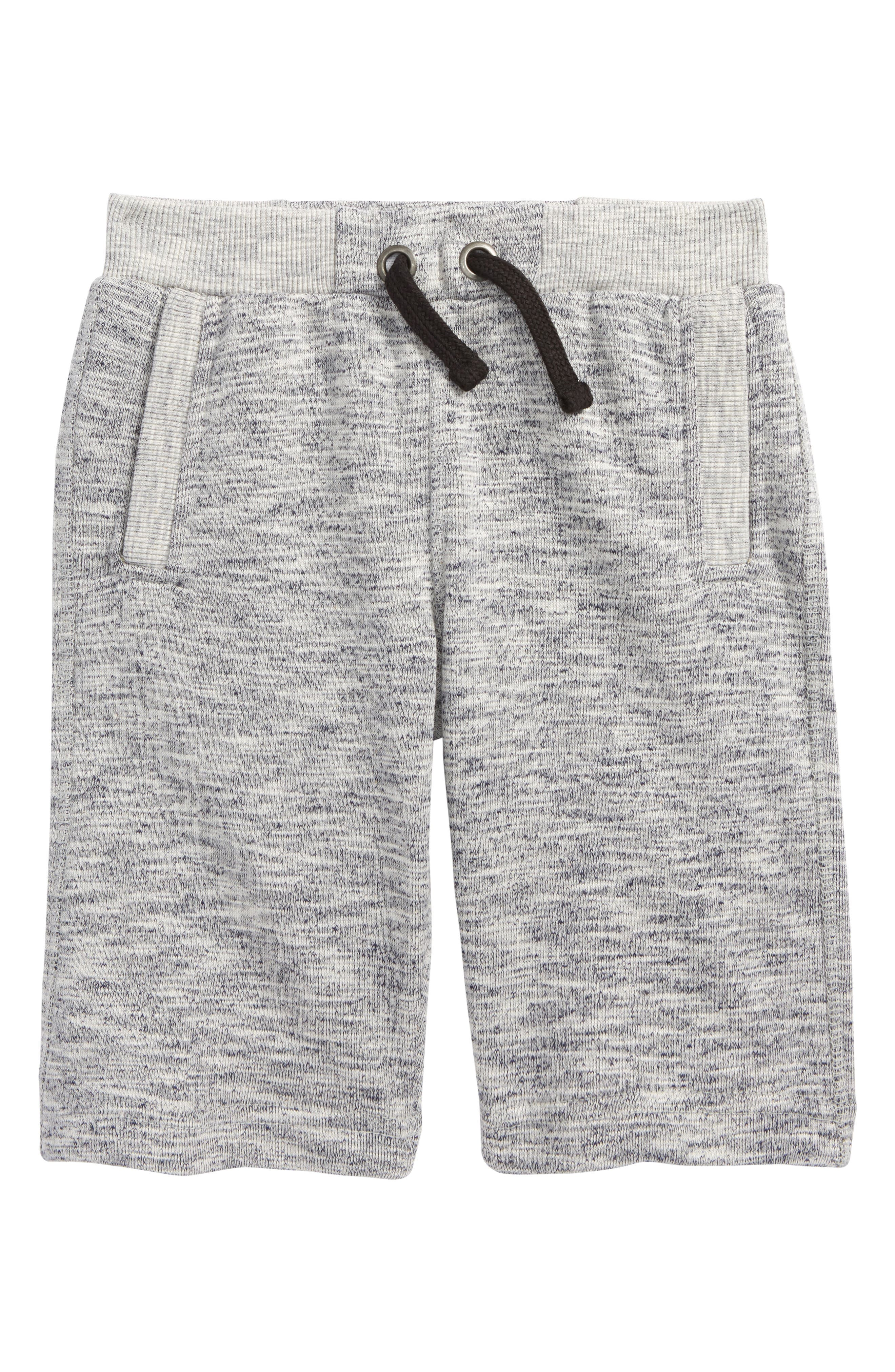French Terry Knit Shorts,                         Main,                         color, Grey Heather