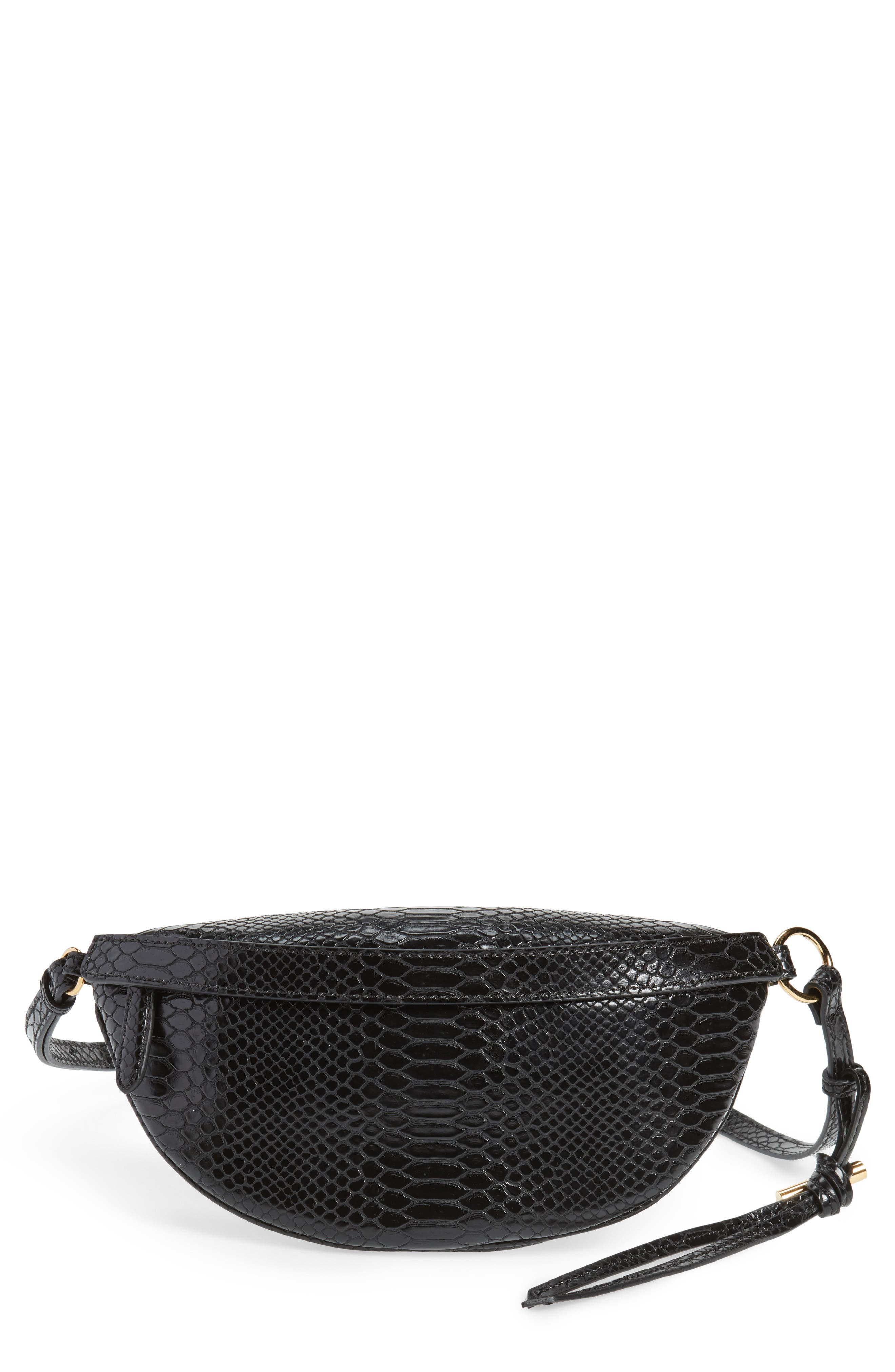 Stella McCartney Alter Snake Faux Leather Fanny Pack