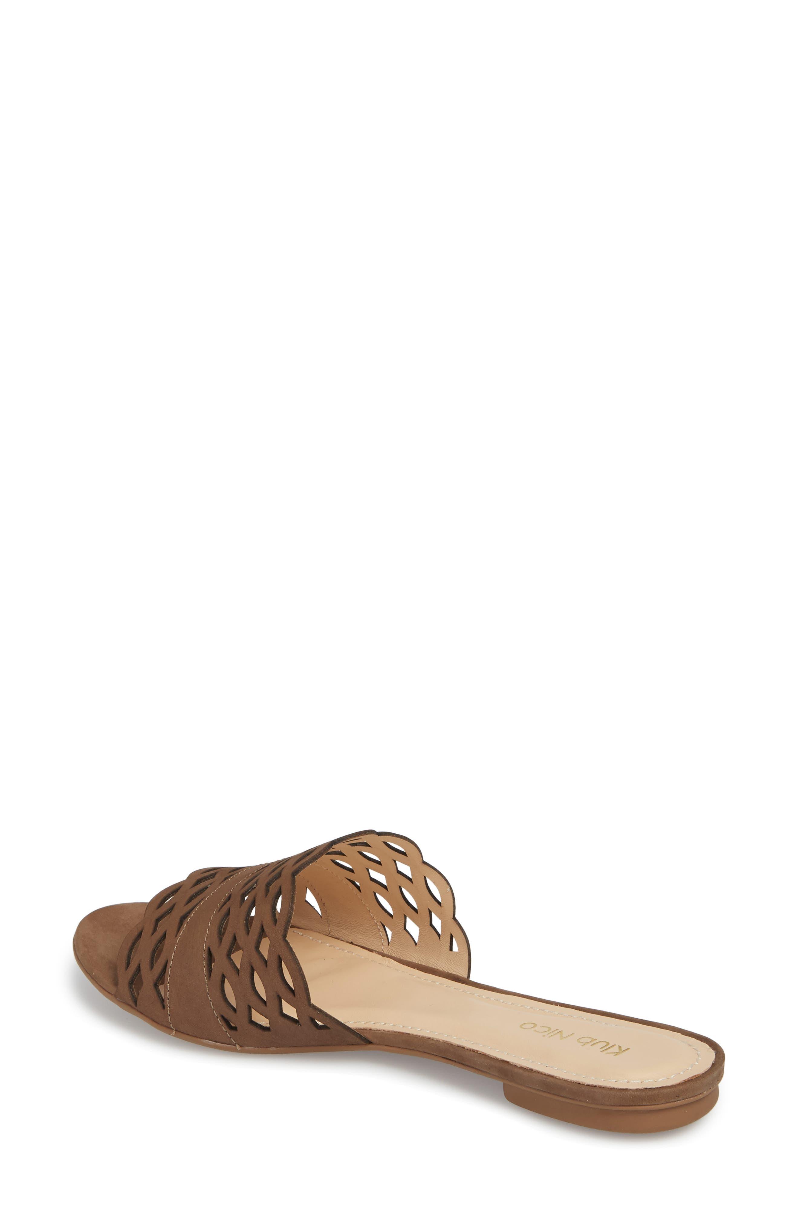 Gynne Slide Sandal,                             Alternate thumbnail 2, color,                             Truffle Leather
