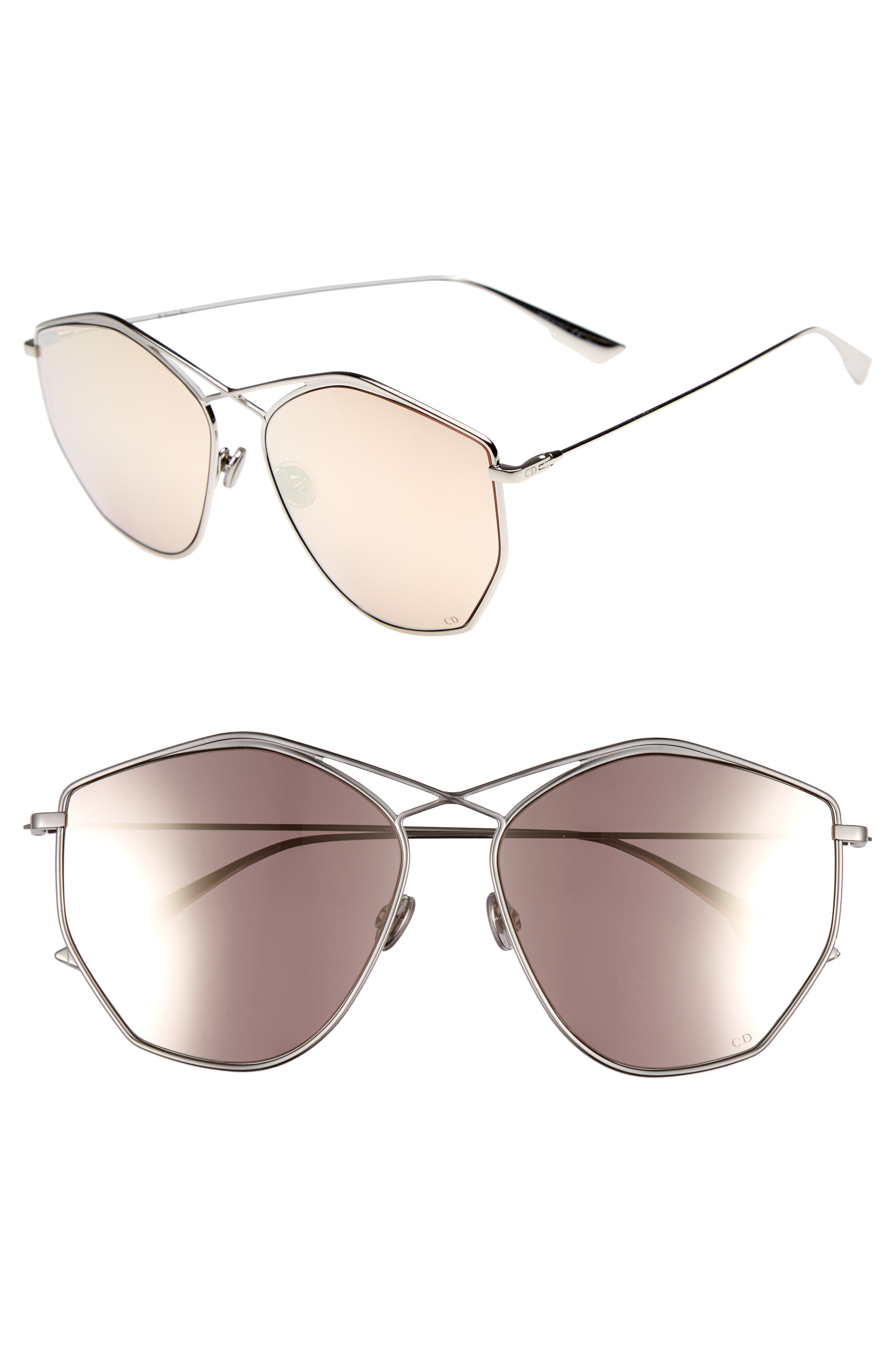 59mm Metal Sunglasses,                         Main,                         color, Palladium