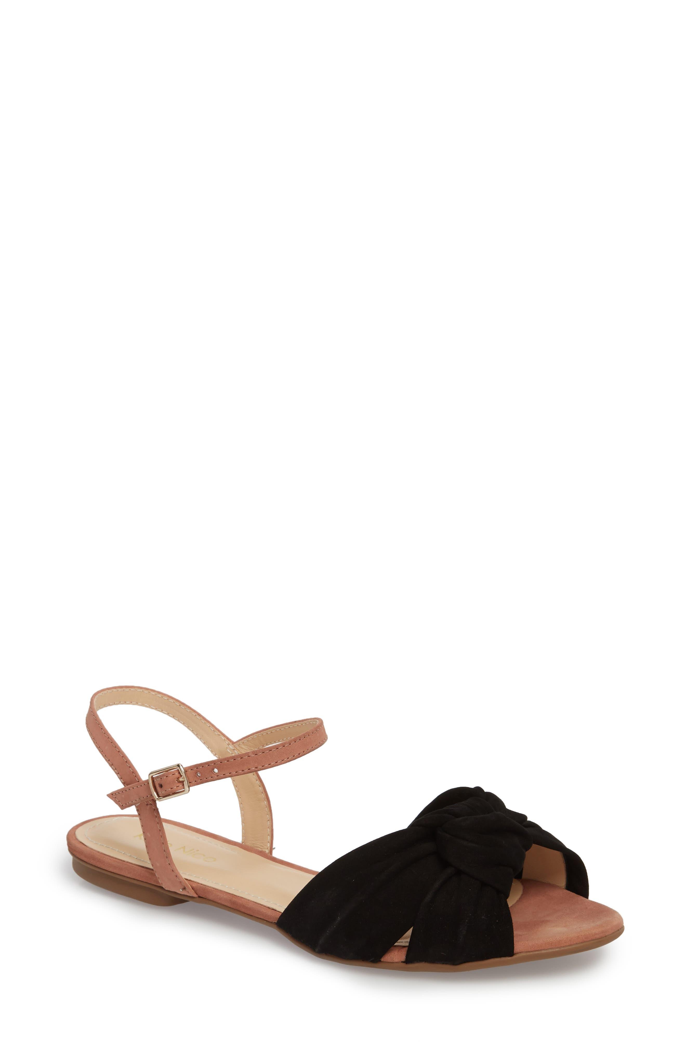 Giley Sandal,                             Main thumbnail 1, color,                             Black Nubuck Leather