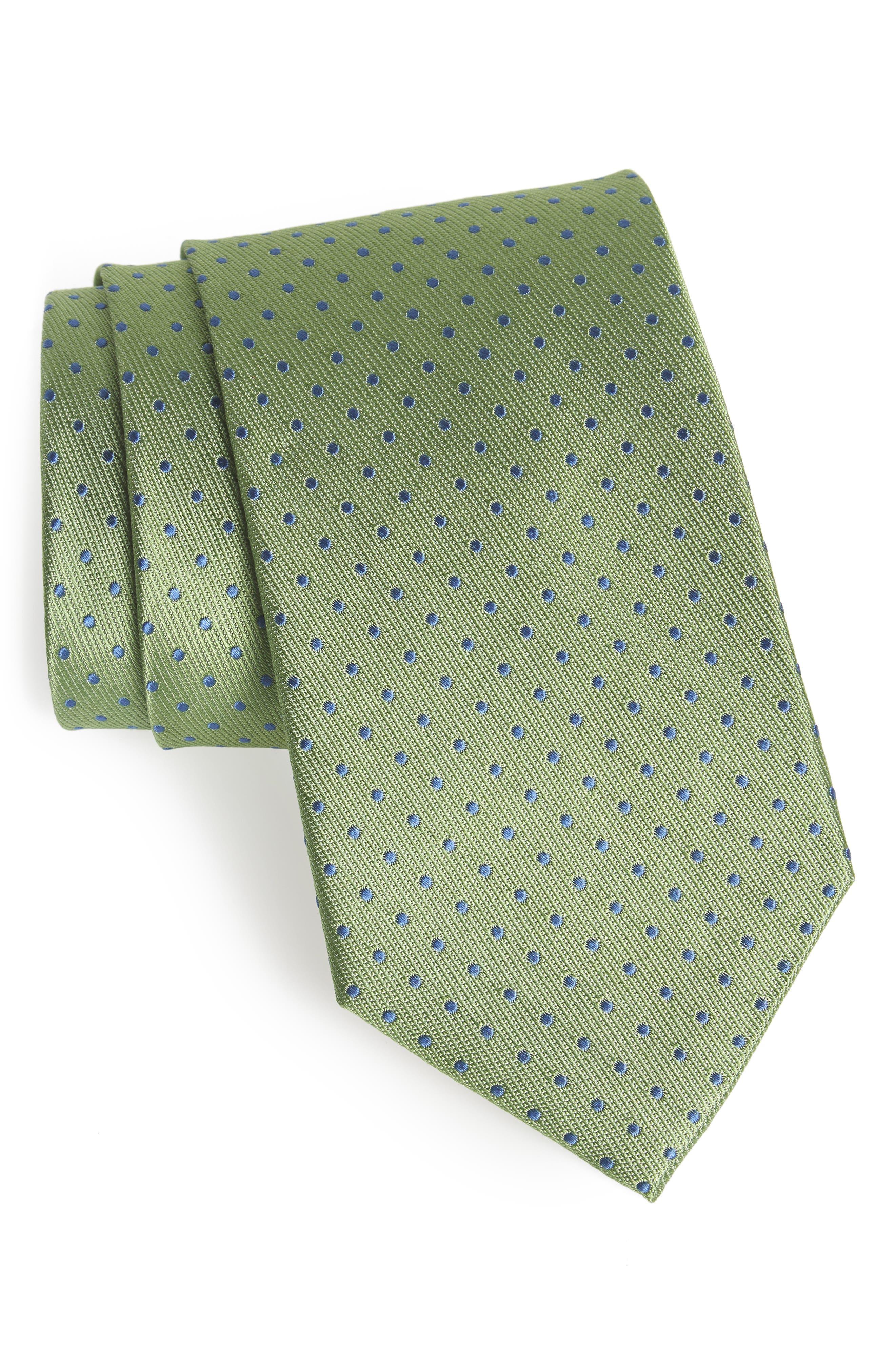 Alternate Image 1 Selected - Nordstrom Men's Shop Sturridge Dot Silk Tie