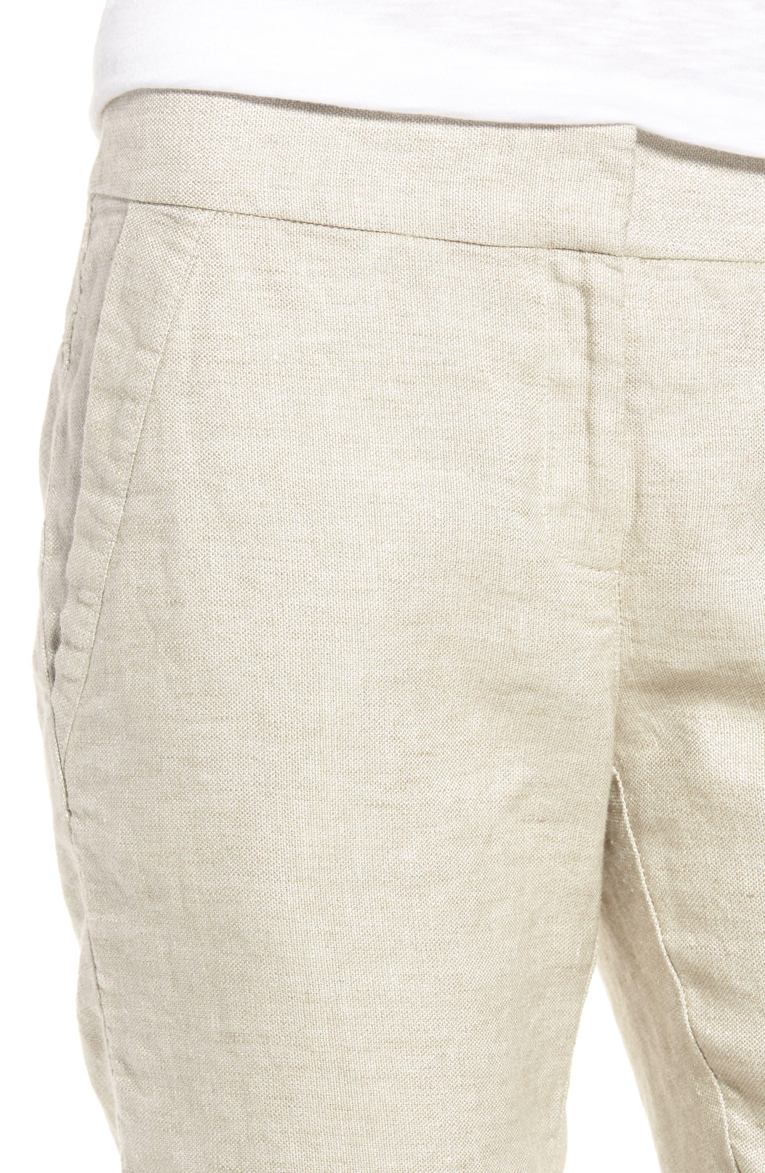 Organic Linen Blend Walking Shorts,                             Alternate thumbnail 5, color,                             Natural
