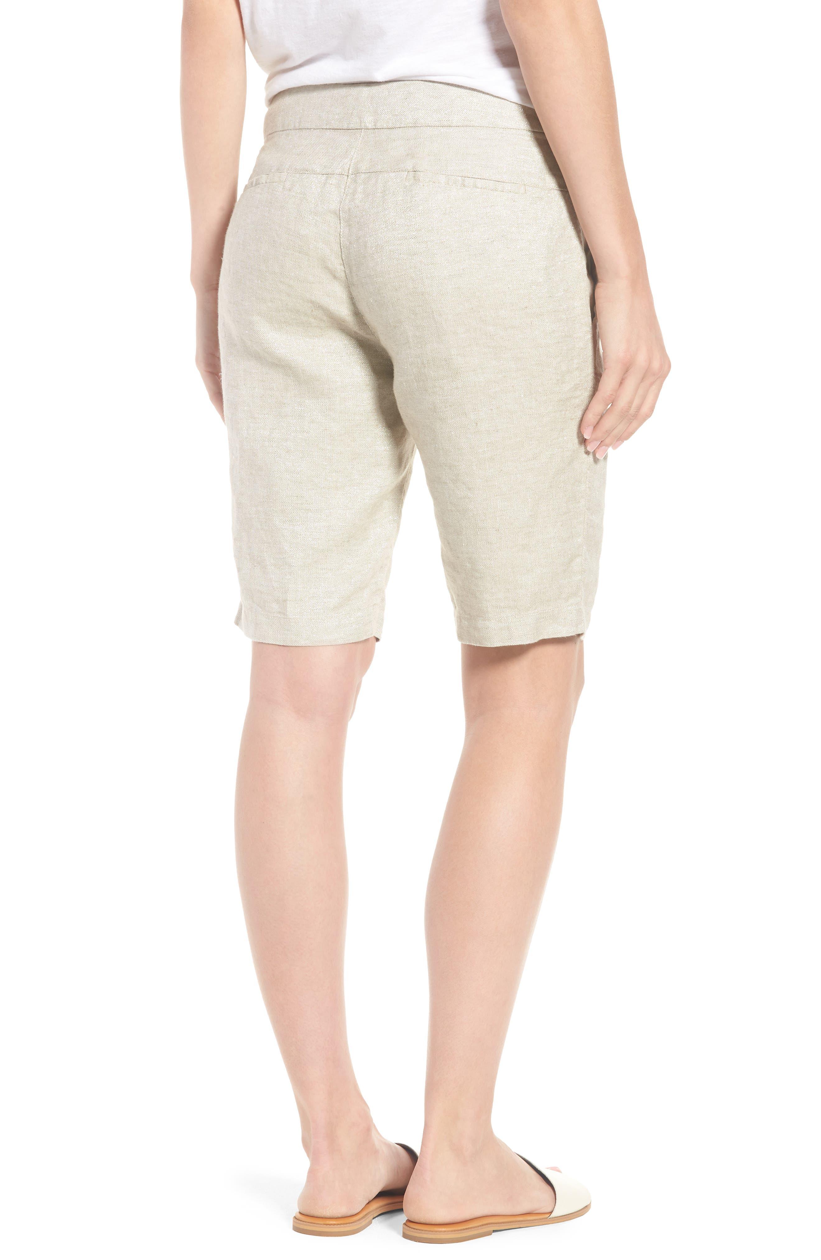 Organic Linen Blend Walking Shorts,                             Alternate thumbnail 2, color,                             Natural