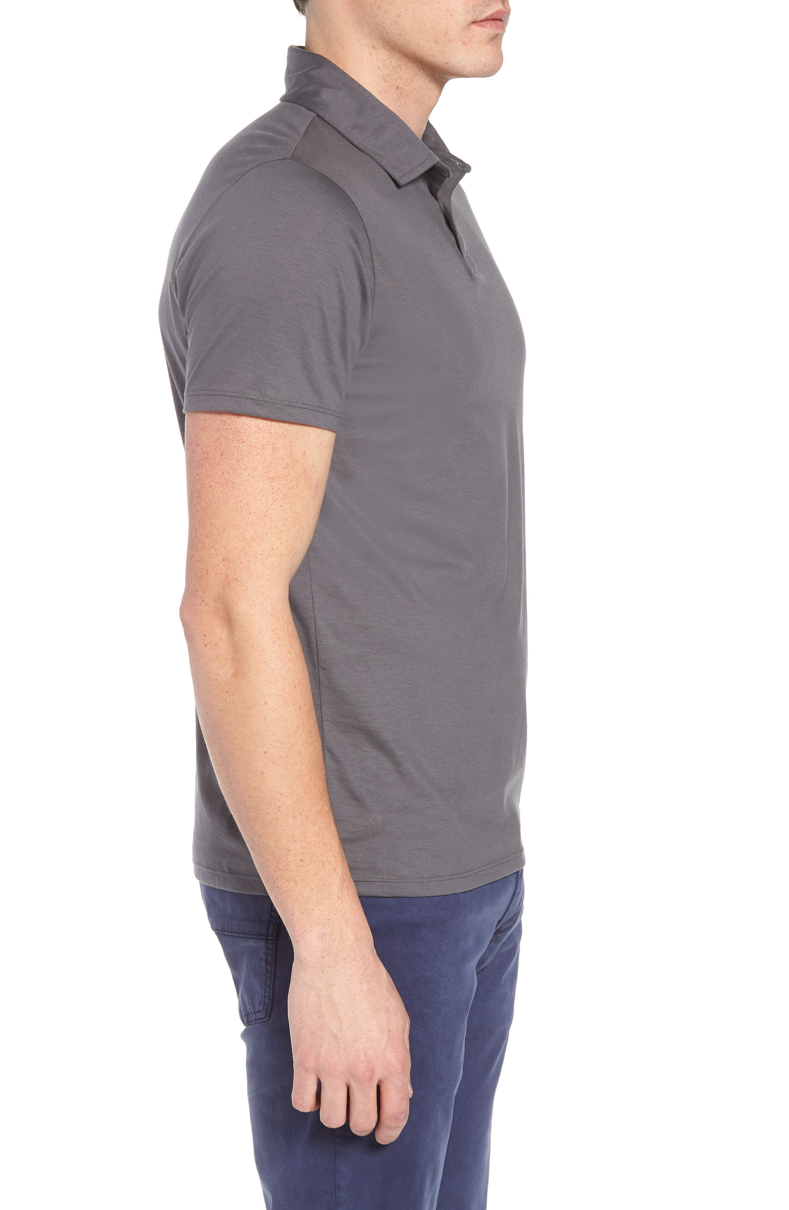 Refined Jersey Polo,                             Alternate thumbnail 3, color,                             Thundercloud