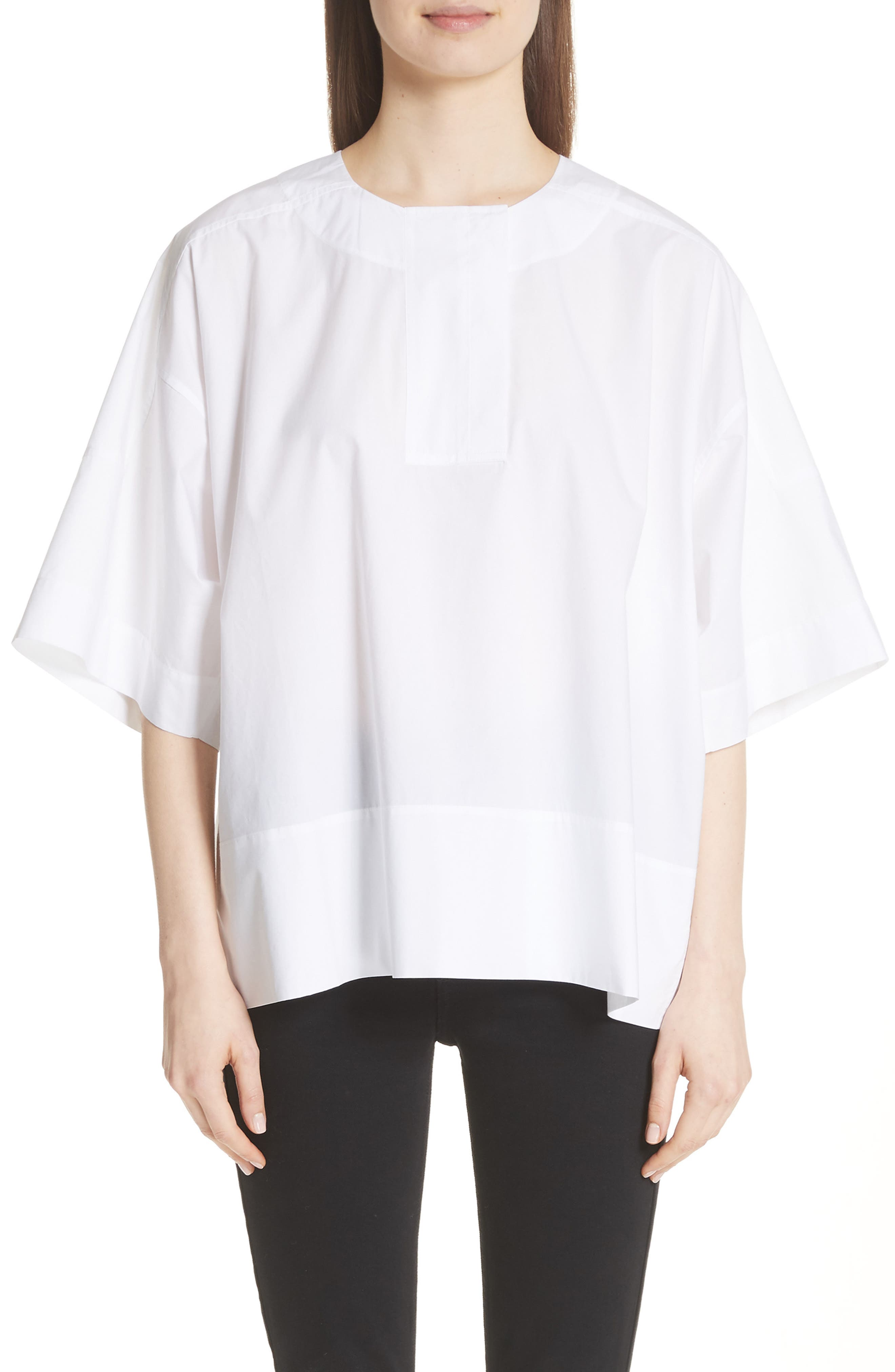 Lhena Boxy Top,                         Main,                         color, White
