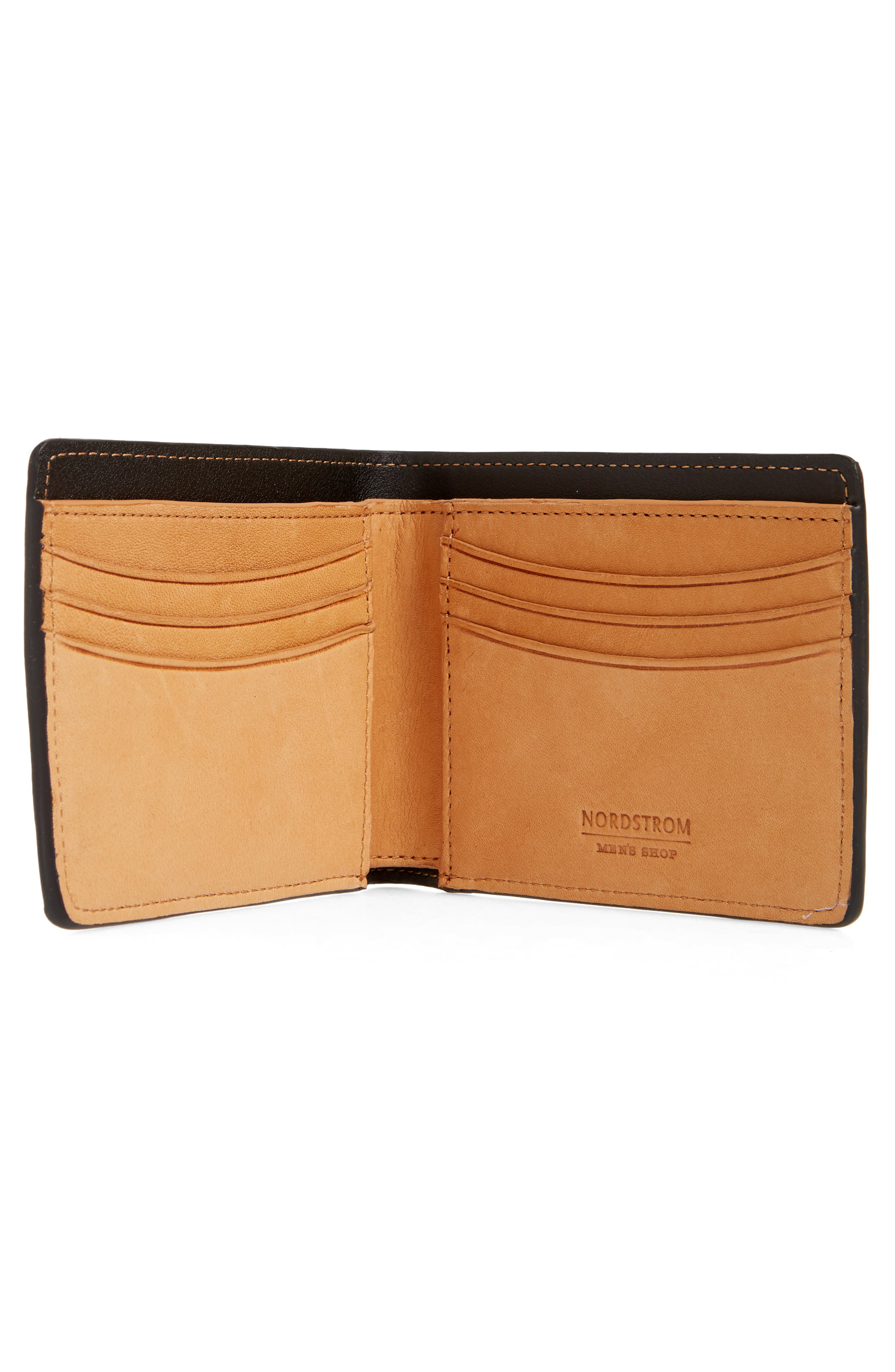 Darien Leather Wallet,                             Alternate thumbnail 2, color,                             Black