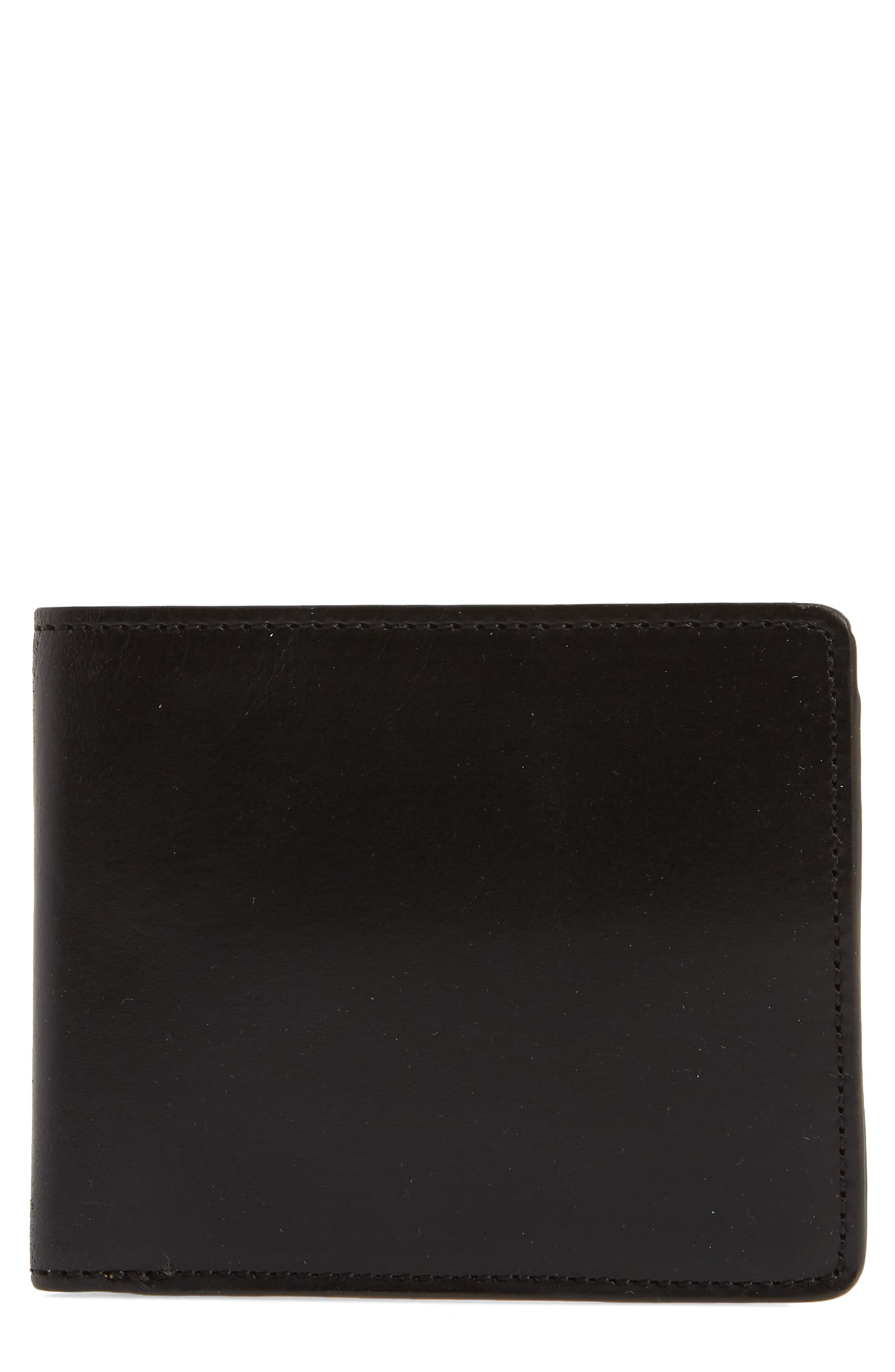 Darien Leather Wallet,                             Main thumbnail 1, color,                             Black