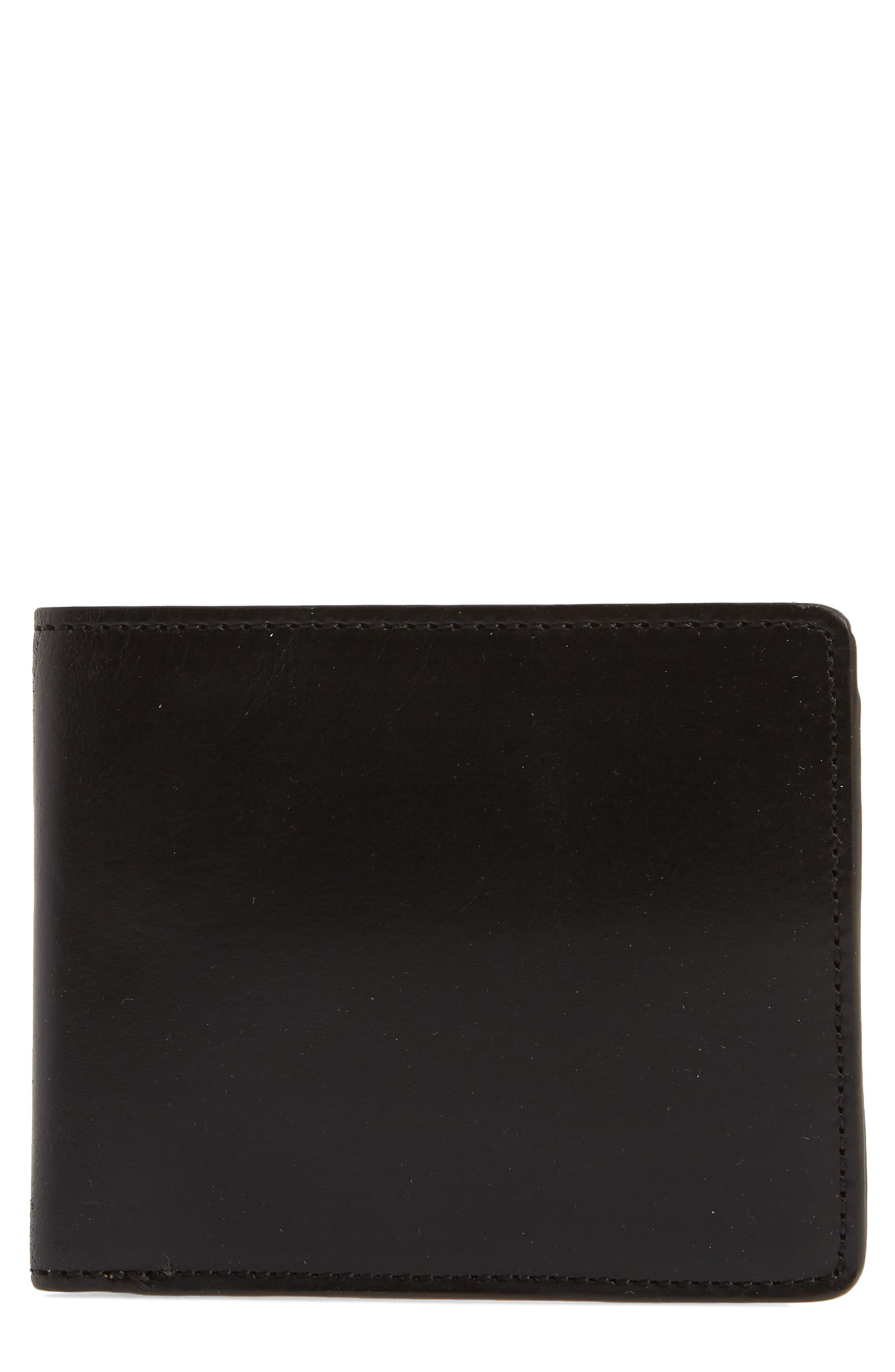 Darien Leather Wallet,                         Main,                         color, Black