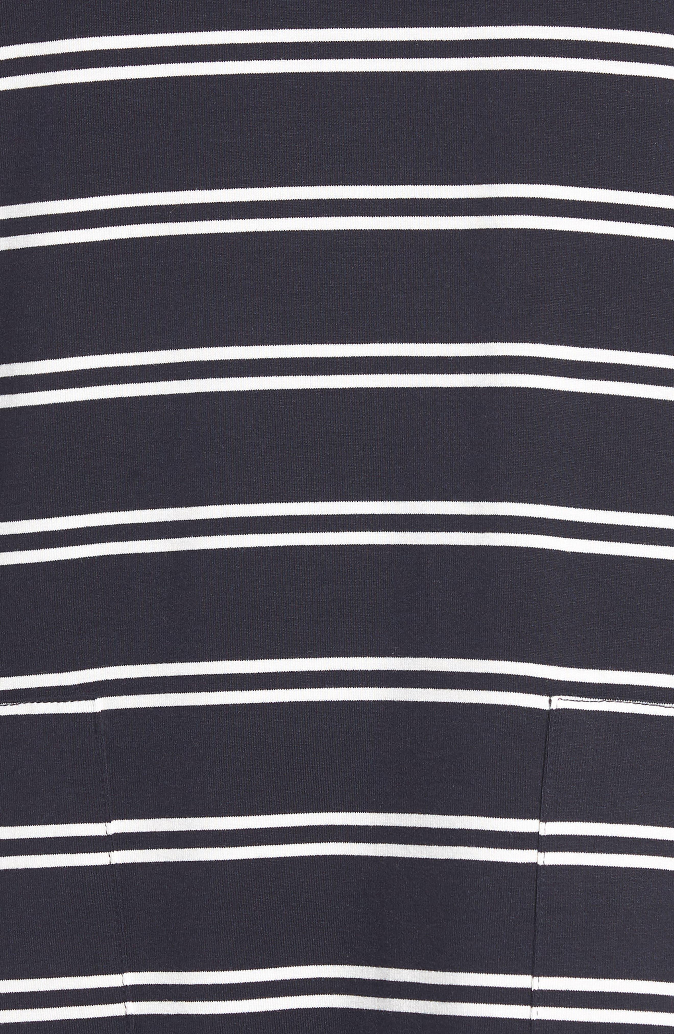 Stripe T-Shirt Dress,                             Alternate thumbnail 6, color,                             Deepest Navy White