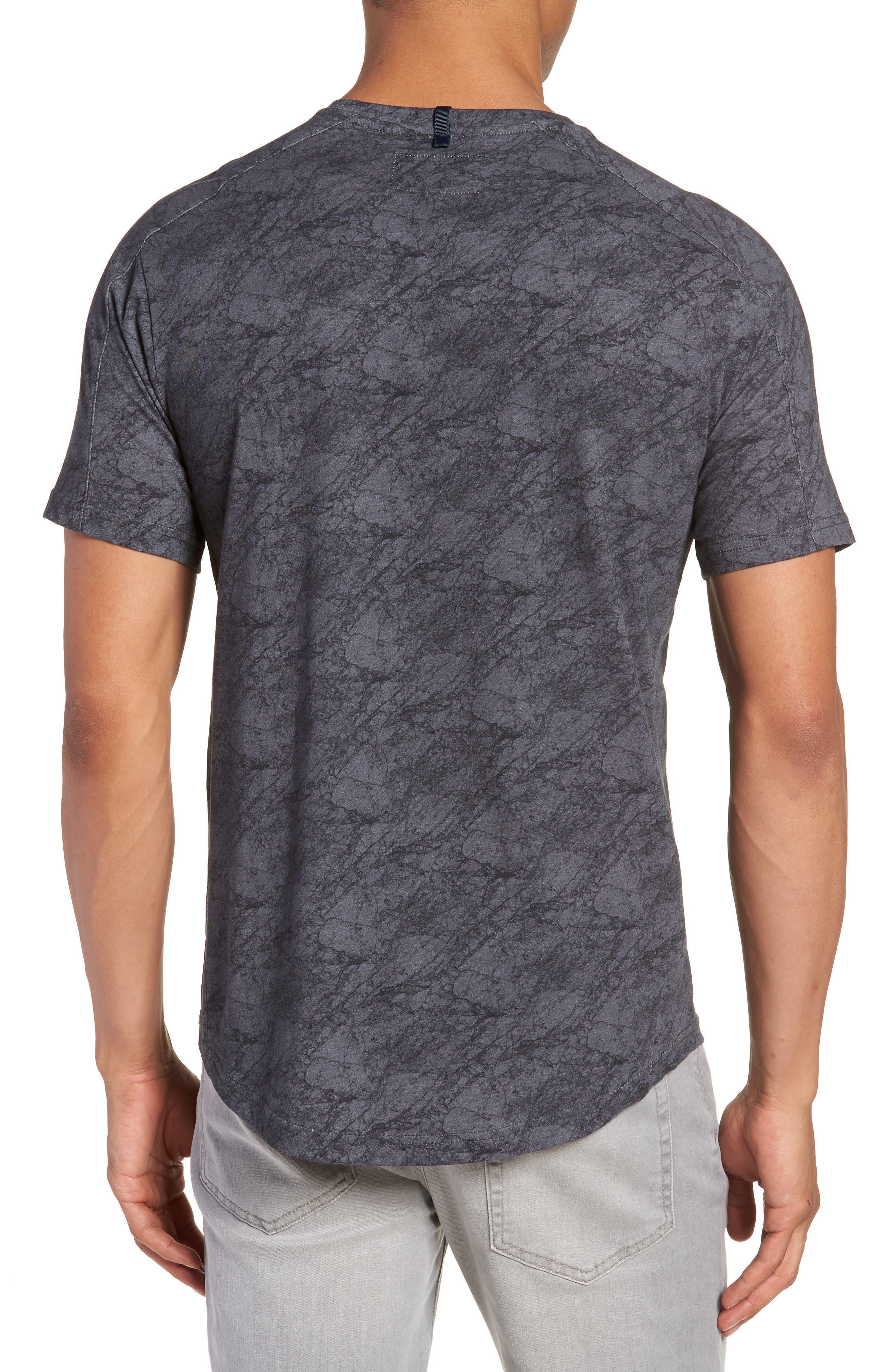 Chelsea Marble Print T-Shirt,                             Alternate thumbnail 2, color,                             Black