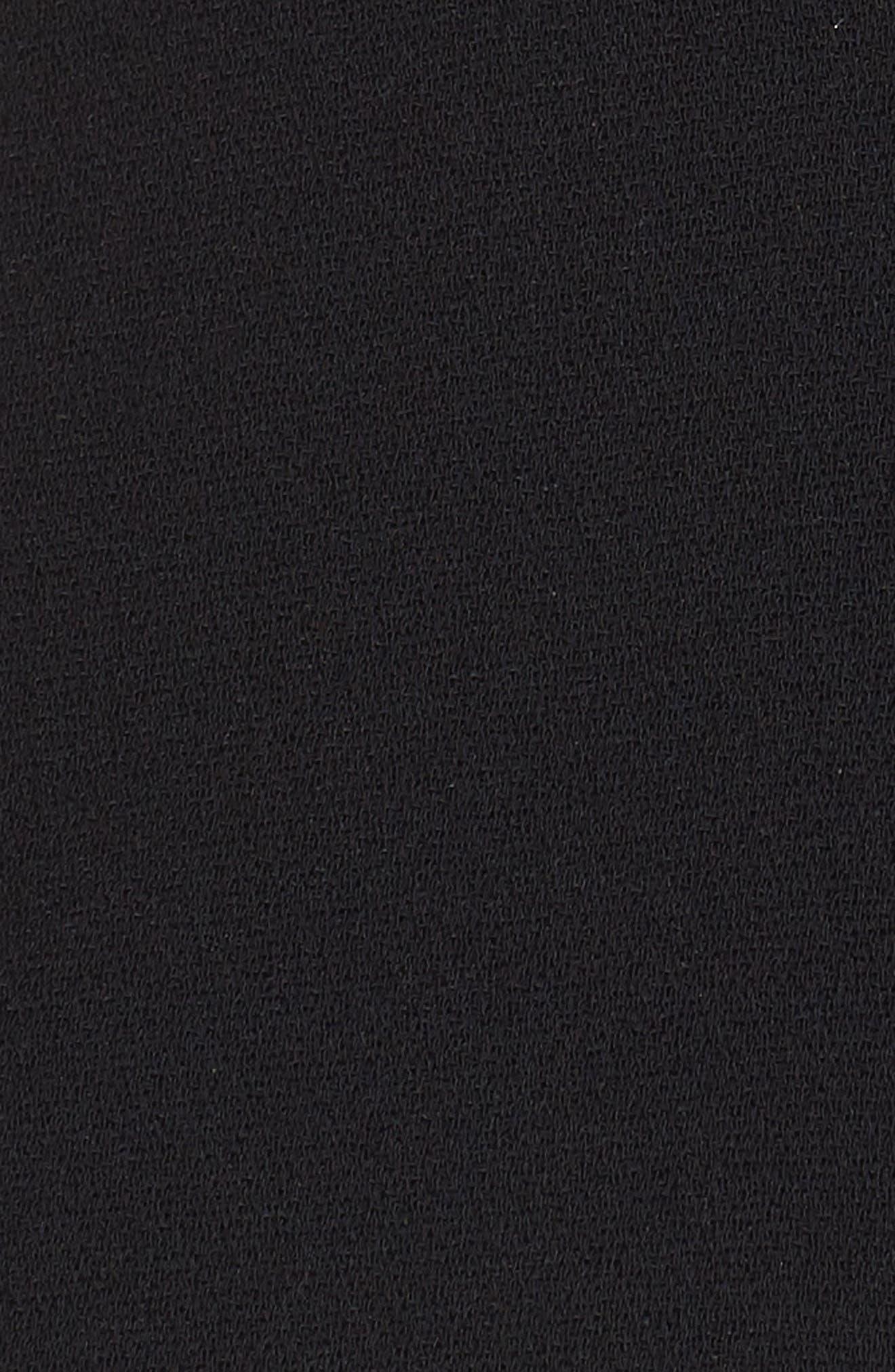 Crepe Bustier Crop Top,                             Alternate thumbnail 6, color,                             Black Multi