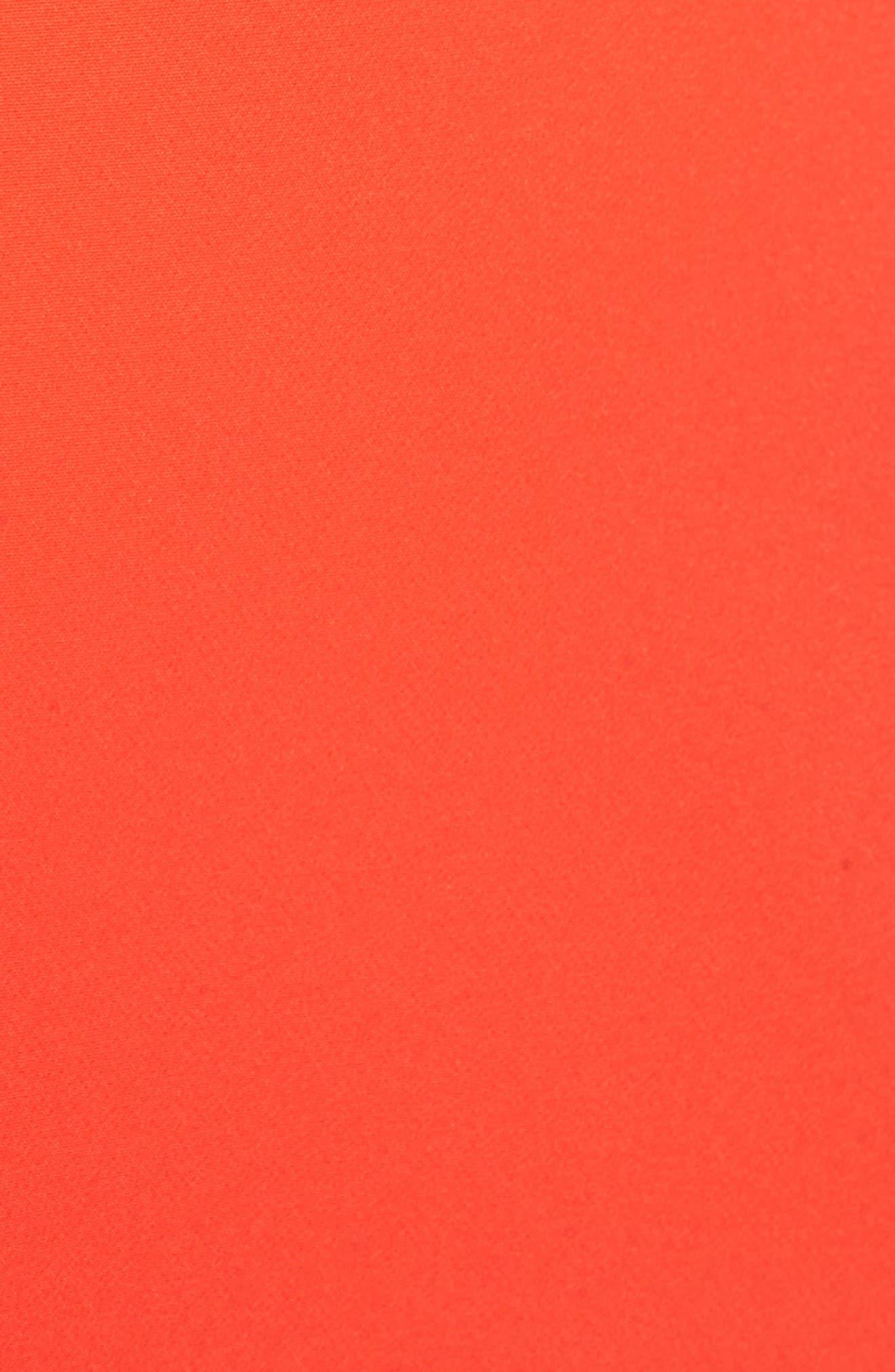 Laguna Ruffle Sheath Dress,                             Alternate thumbnail 6, color,                             Orange