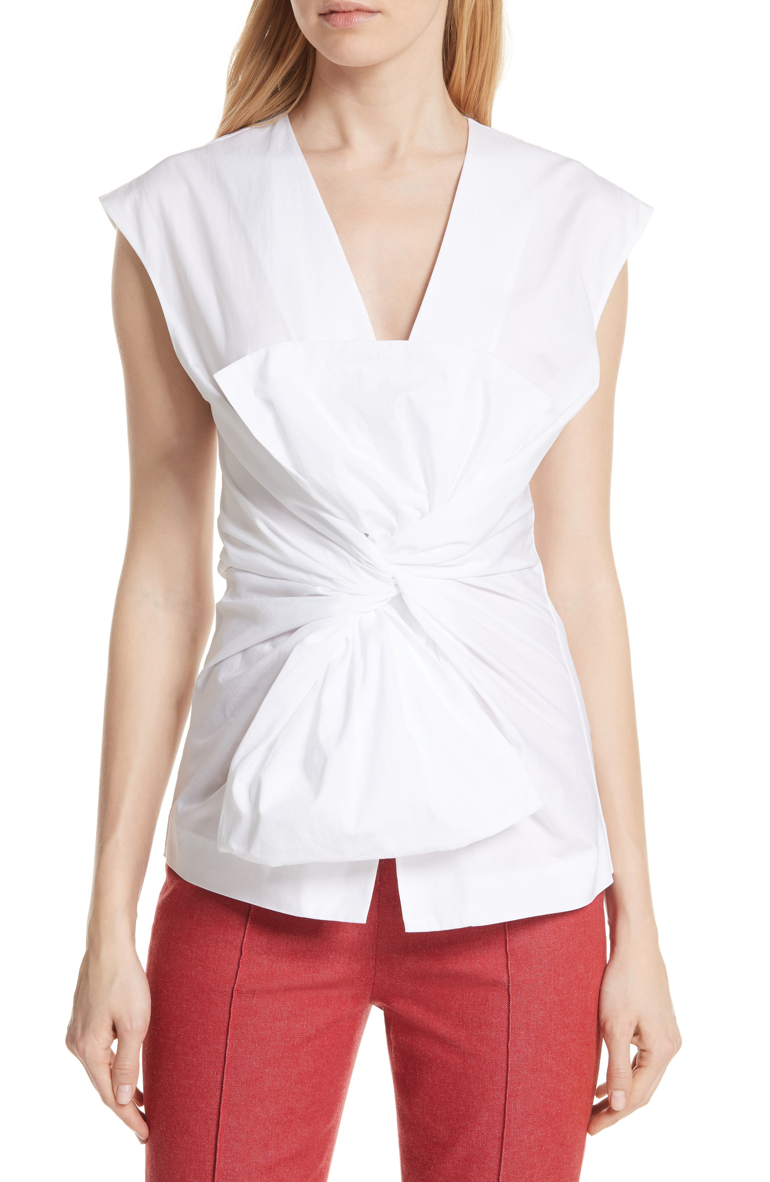 DVF Sculptured Bow Front Blouse