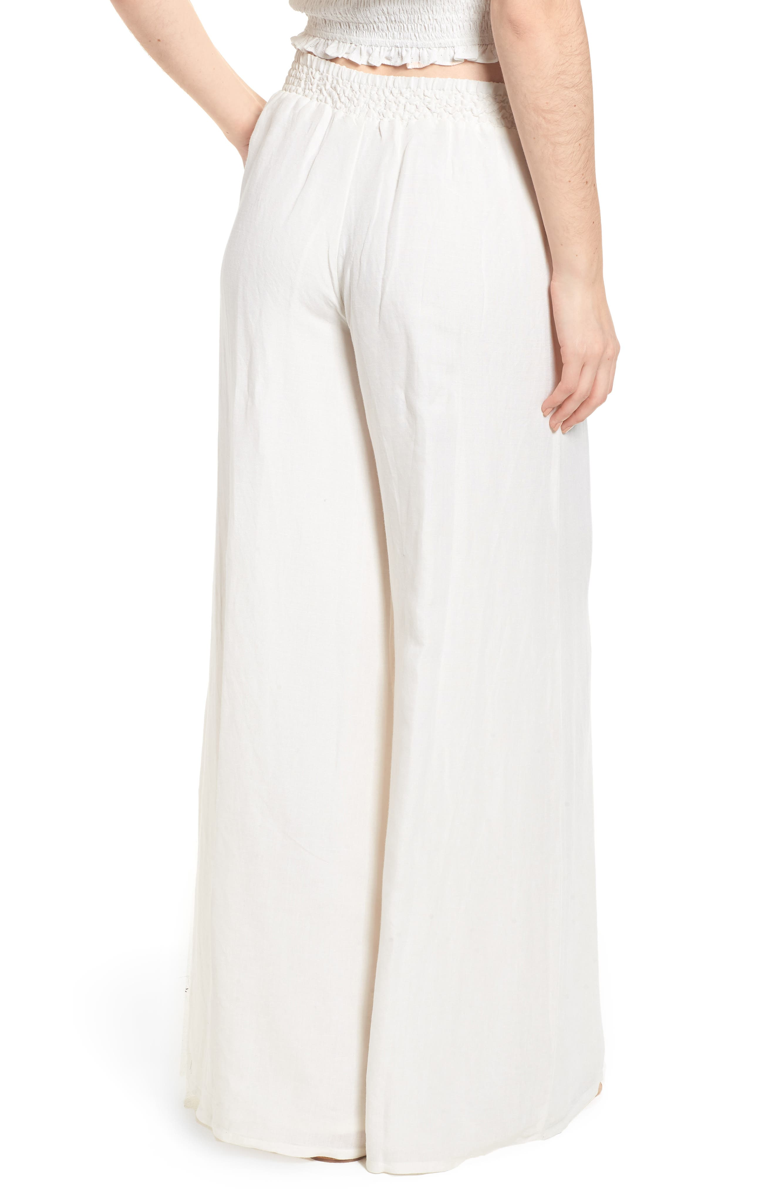 High Roads Smocked Wide Leg Pants,                             Alternate thumbnail 2, color,                             Cool Whip