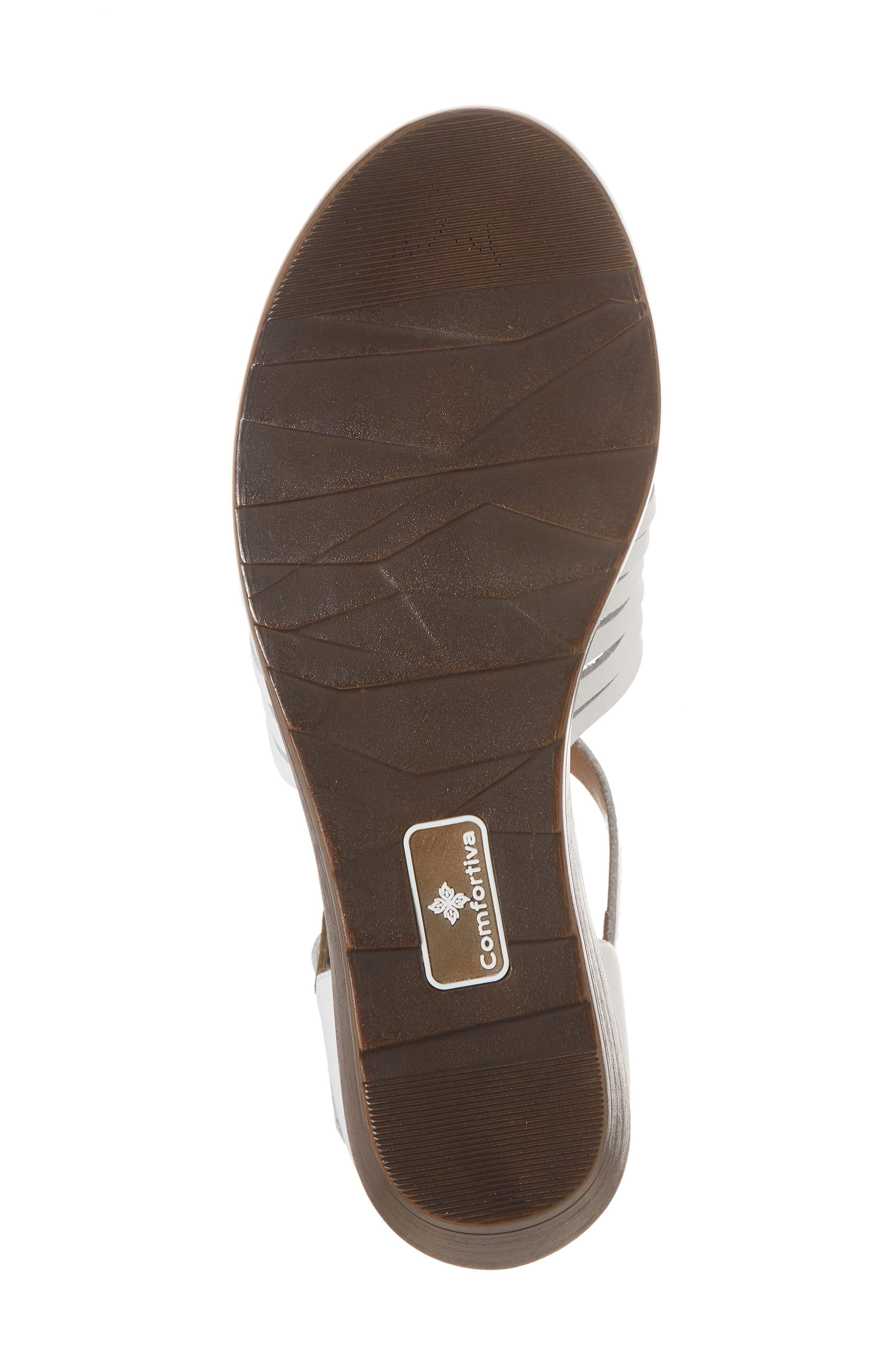 Fayann Sandal,                             Alternate thumbnail 6, color,                             White Leather