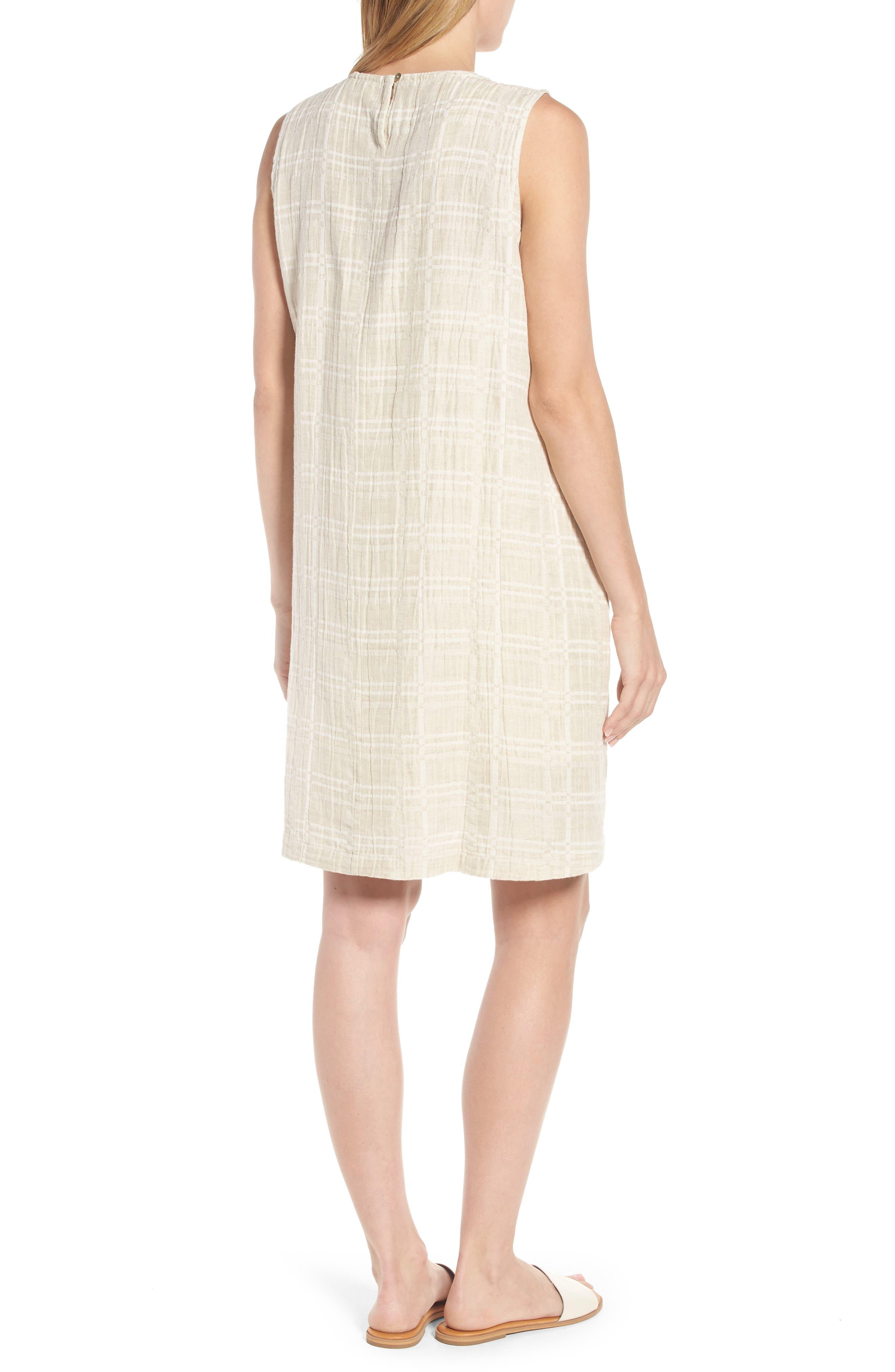 Organic Cotton & Linen Shift Dress,                             Alternate thumbnail 2, color,                             Natural