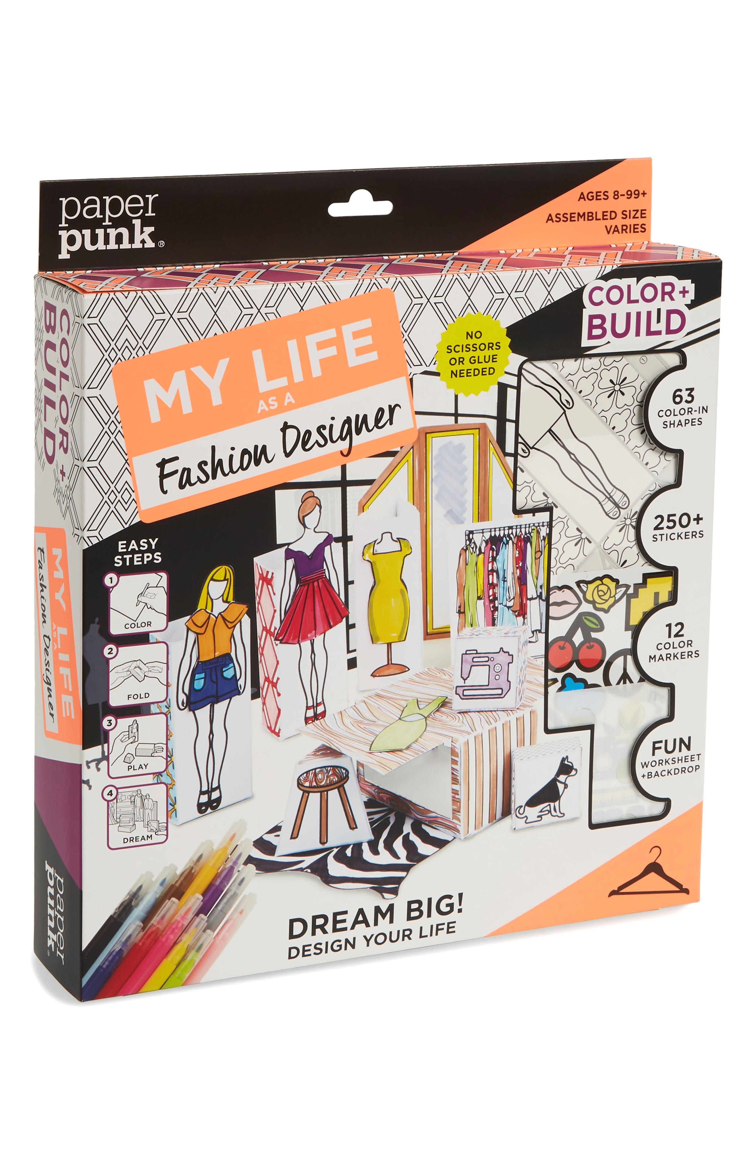 Color & Build My Life as a Fashion Designer Paper Folding Kit,                             Main thumbnail 1, color,                             Multi