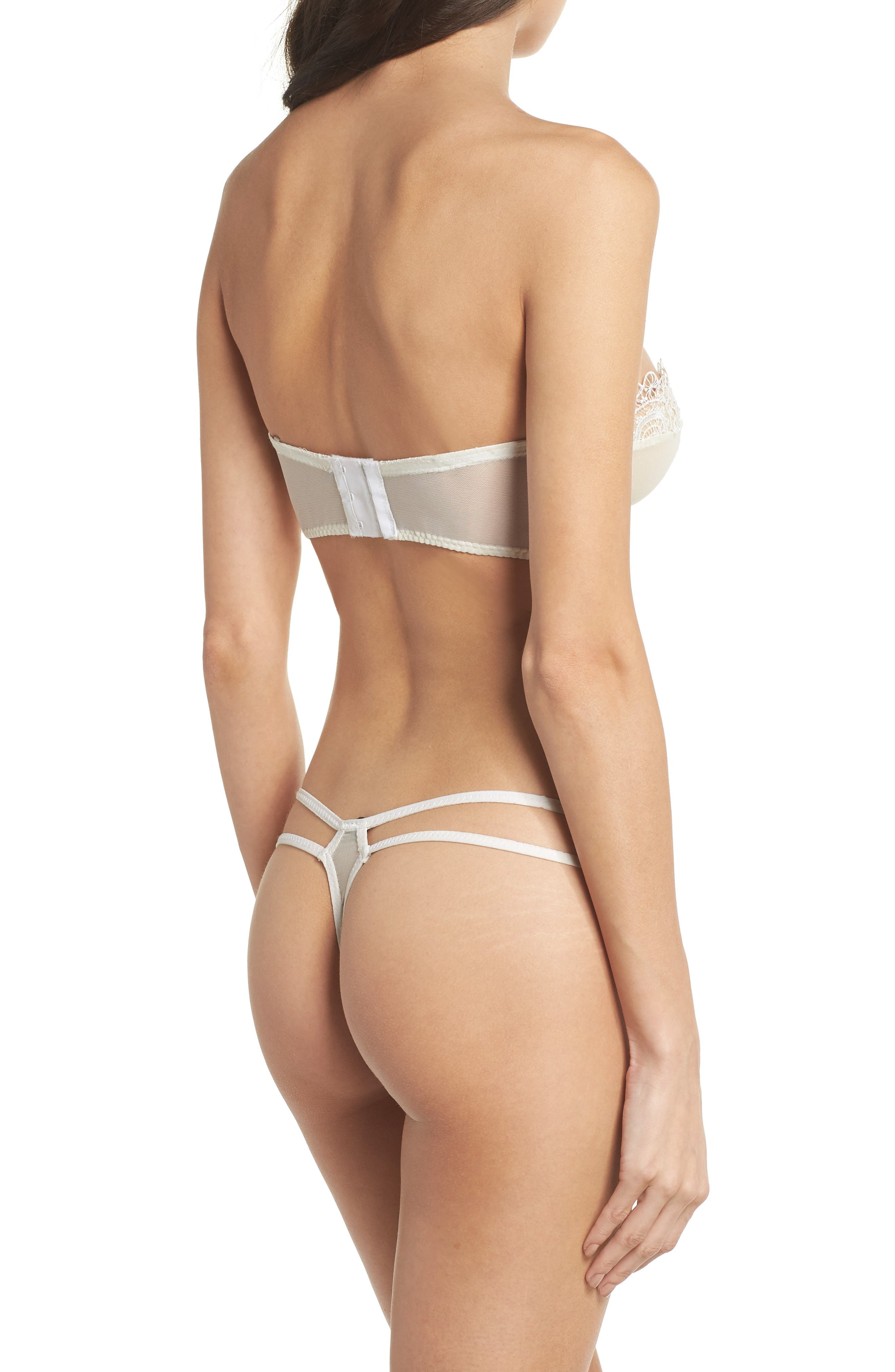 Thistle & Spire Willow Underwire Convertible Bustier Bra,                             Alternate thumbnail 6, color,                             Ivory