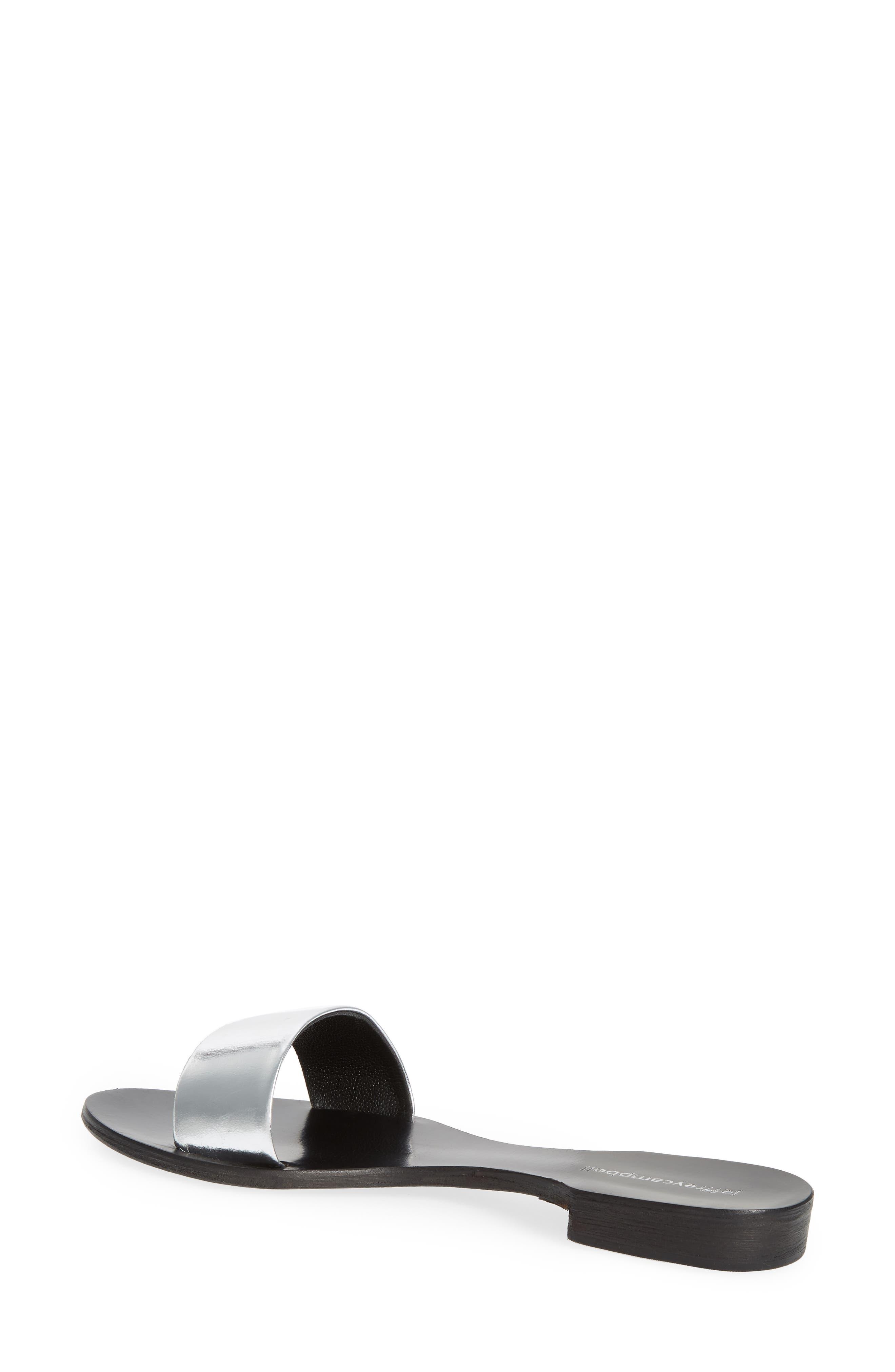 Monzon Slide Sandal,                             Alternate thumbnail 2, color,                             Silver Mirror