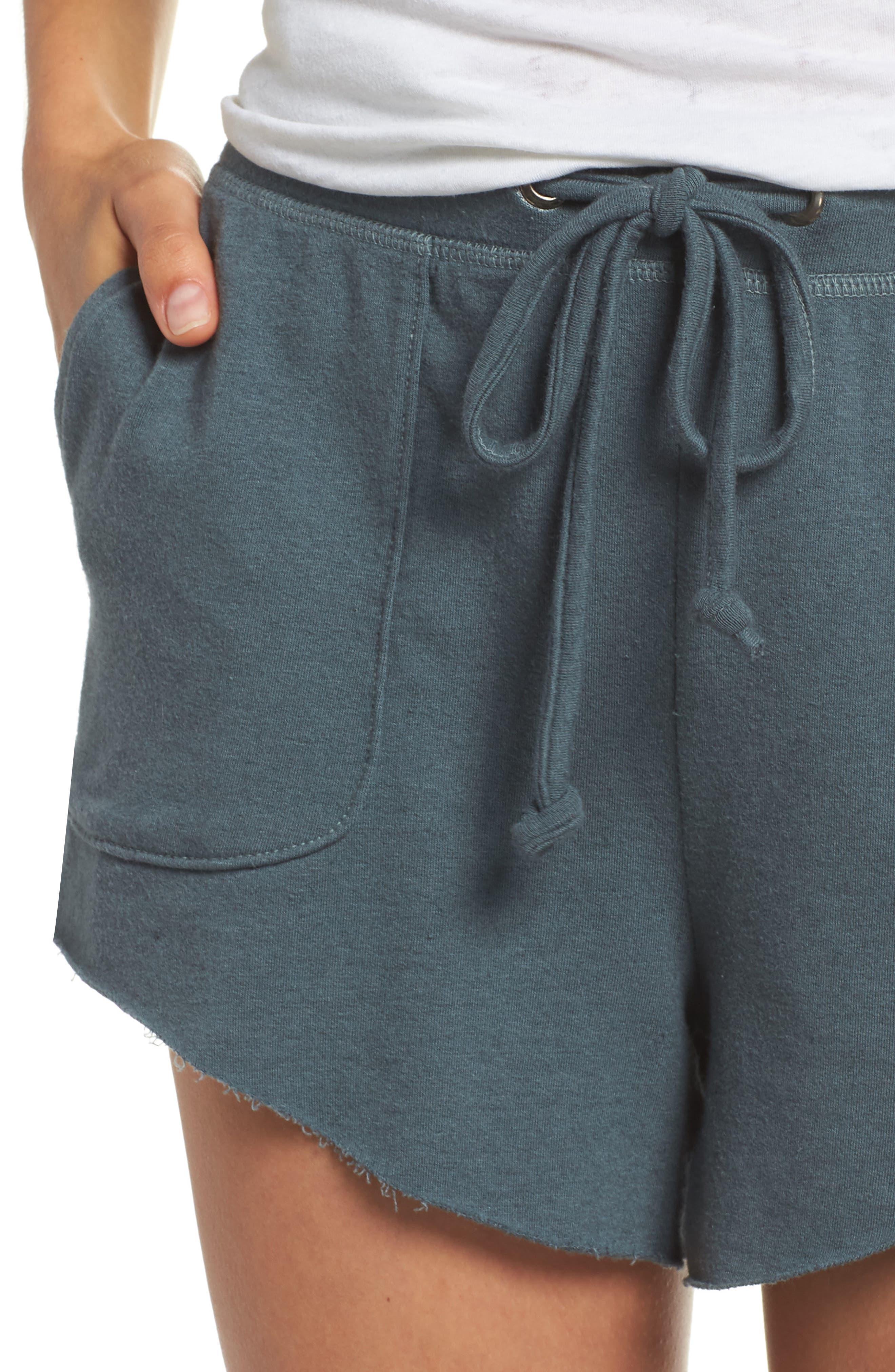 Raw Cut Lounge Shorts,                             Alternate thumbnail 5, color,                             Gunmetal