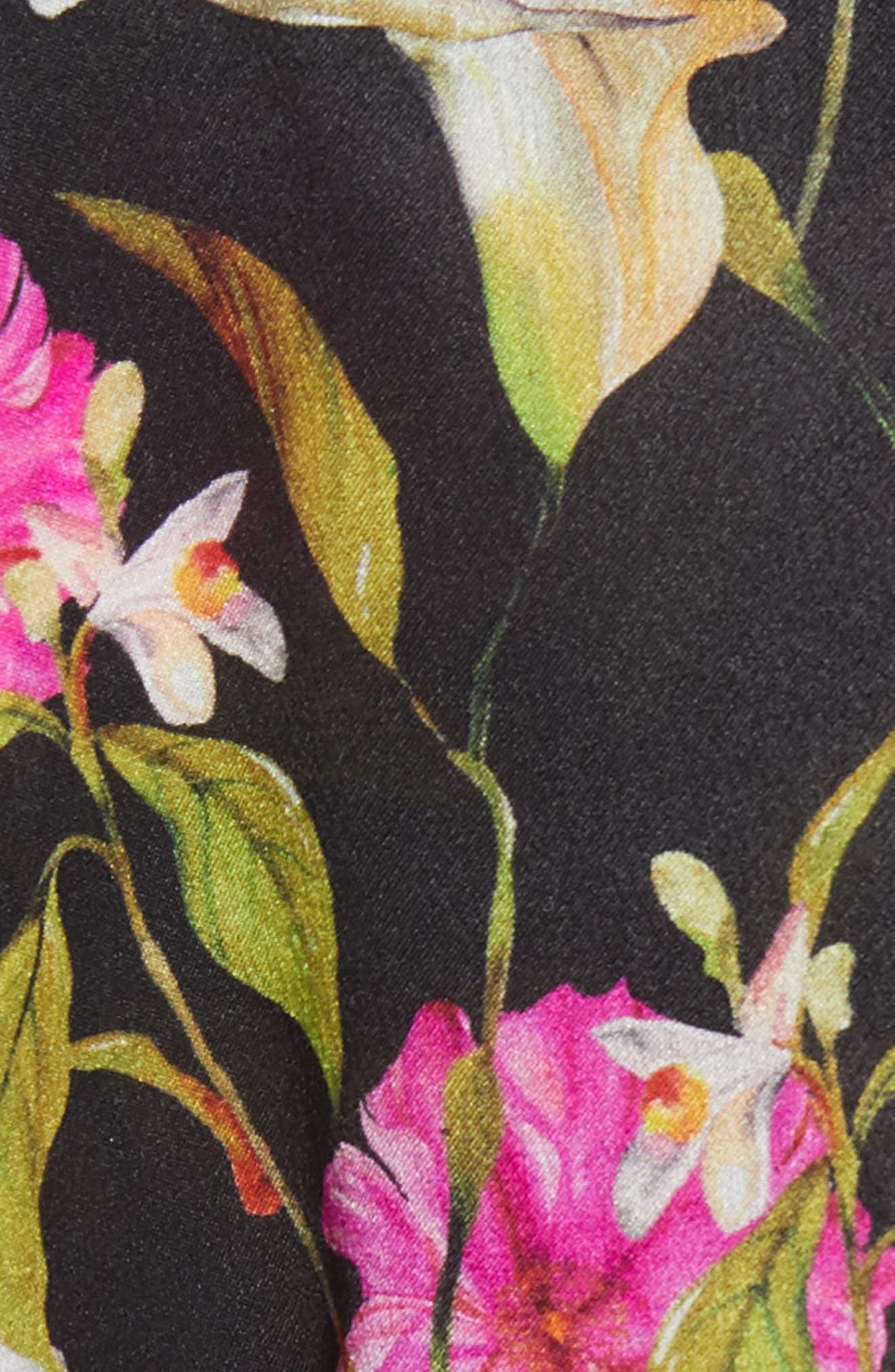 Calla Lily Cold Shoulder Silk Blouse,                             Alternate thumbnail 5, color,                             Multi