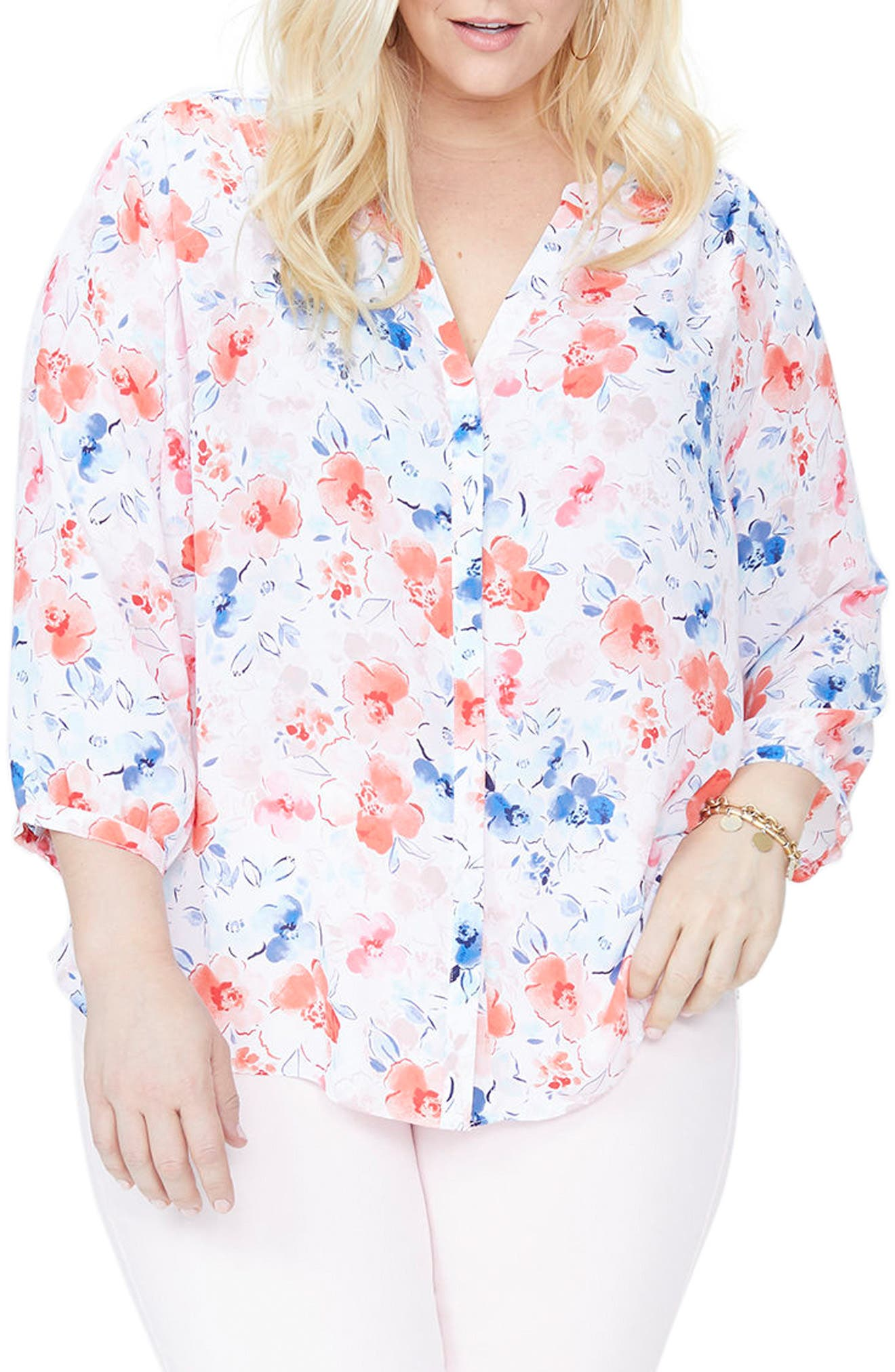 Alternate Image 1 Selected - NYDJ Blouse (Plus Size)