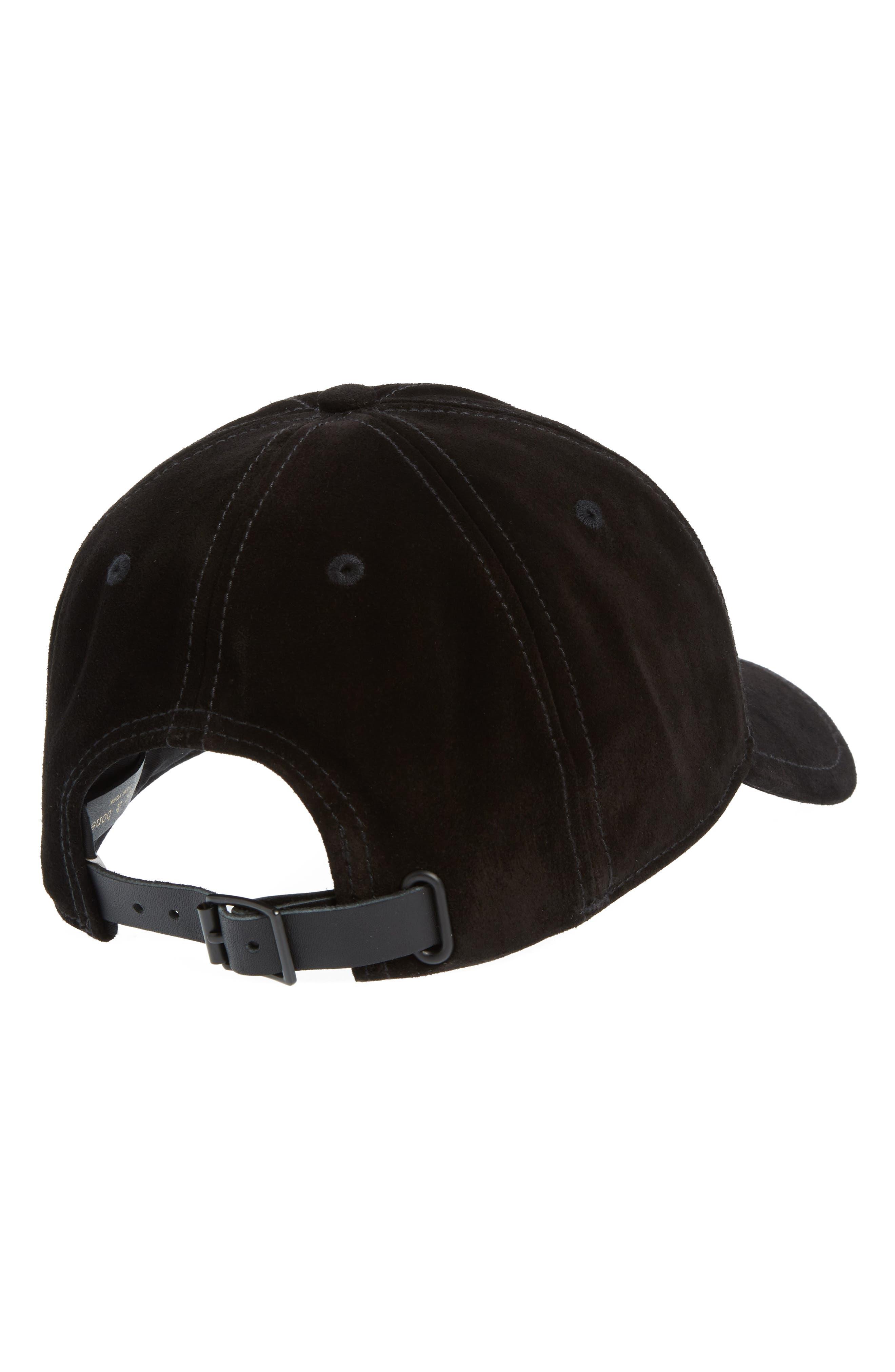 Lenox Ball Cap,                             Alternate thumbnail 2, color,                             Black Suede