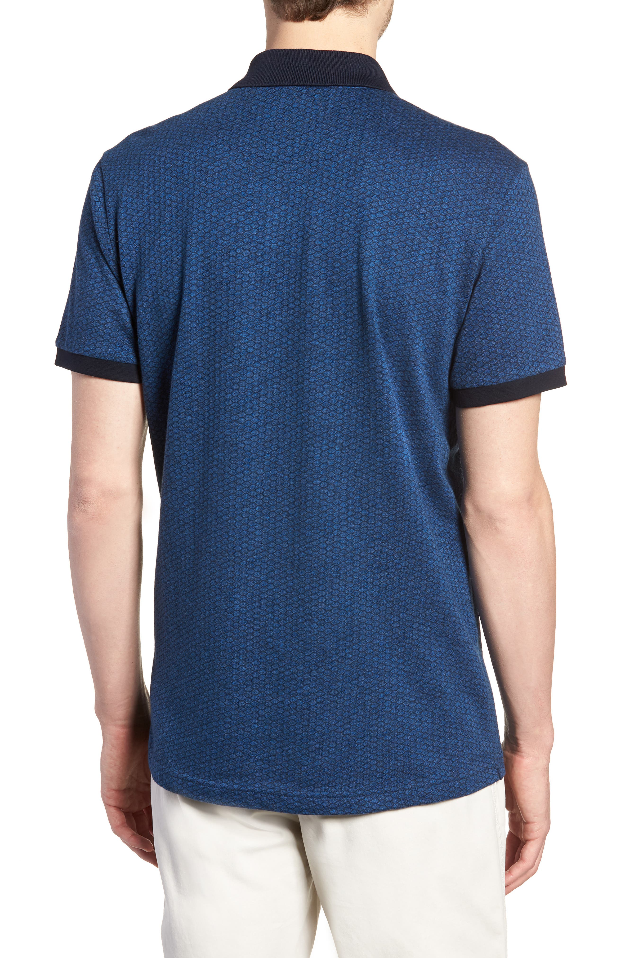 Mantle Hill Sports Fit Polo,                             Alternate thumbnail 2, color,                             Ocean