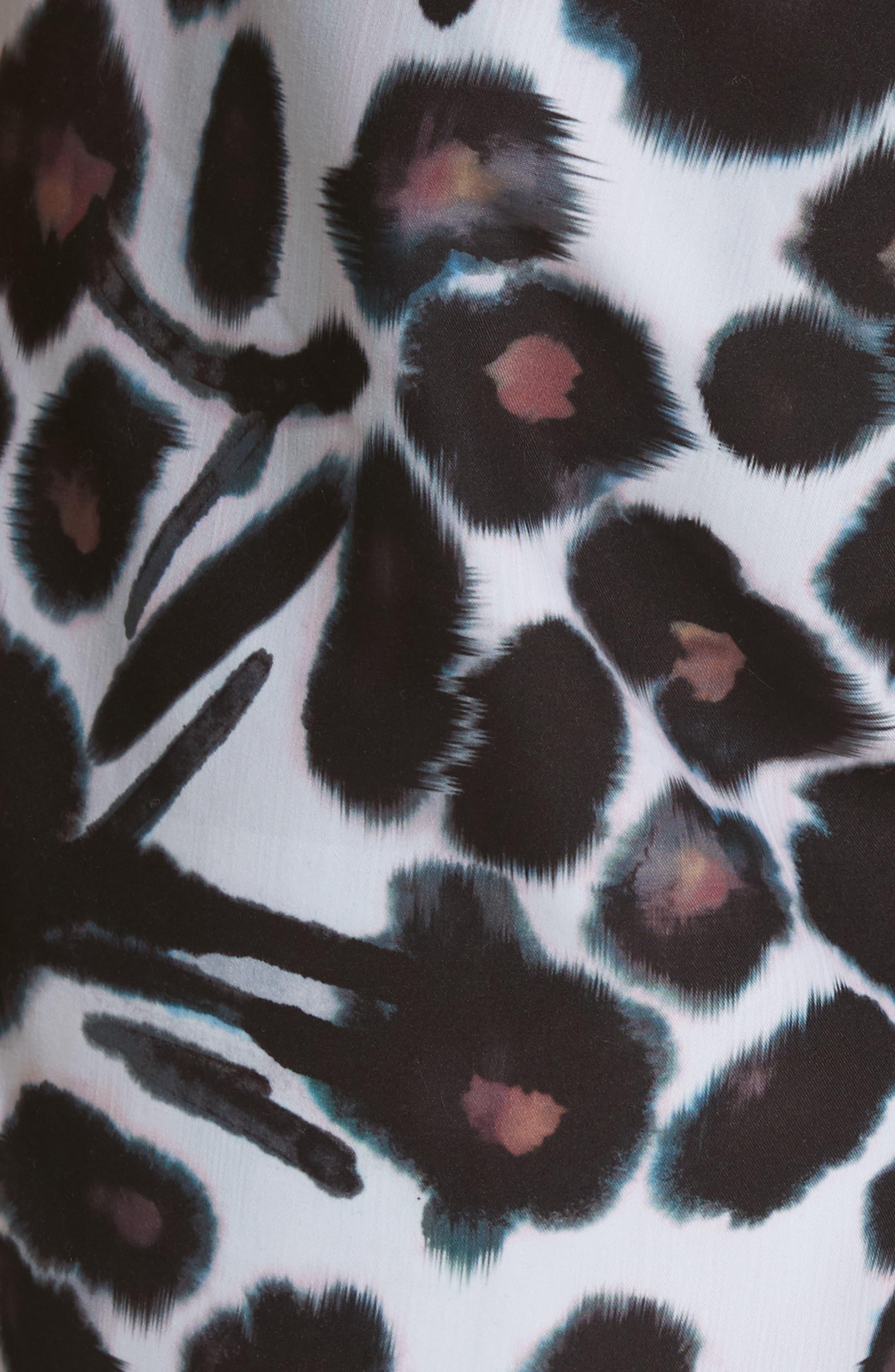 Timothy Watercolor Floral Swim Shorts,                             Alternate thumbnail 5, color,                             White/ Dark Mauve