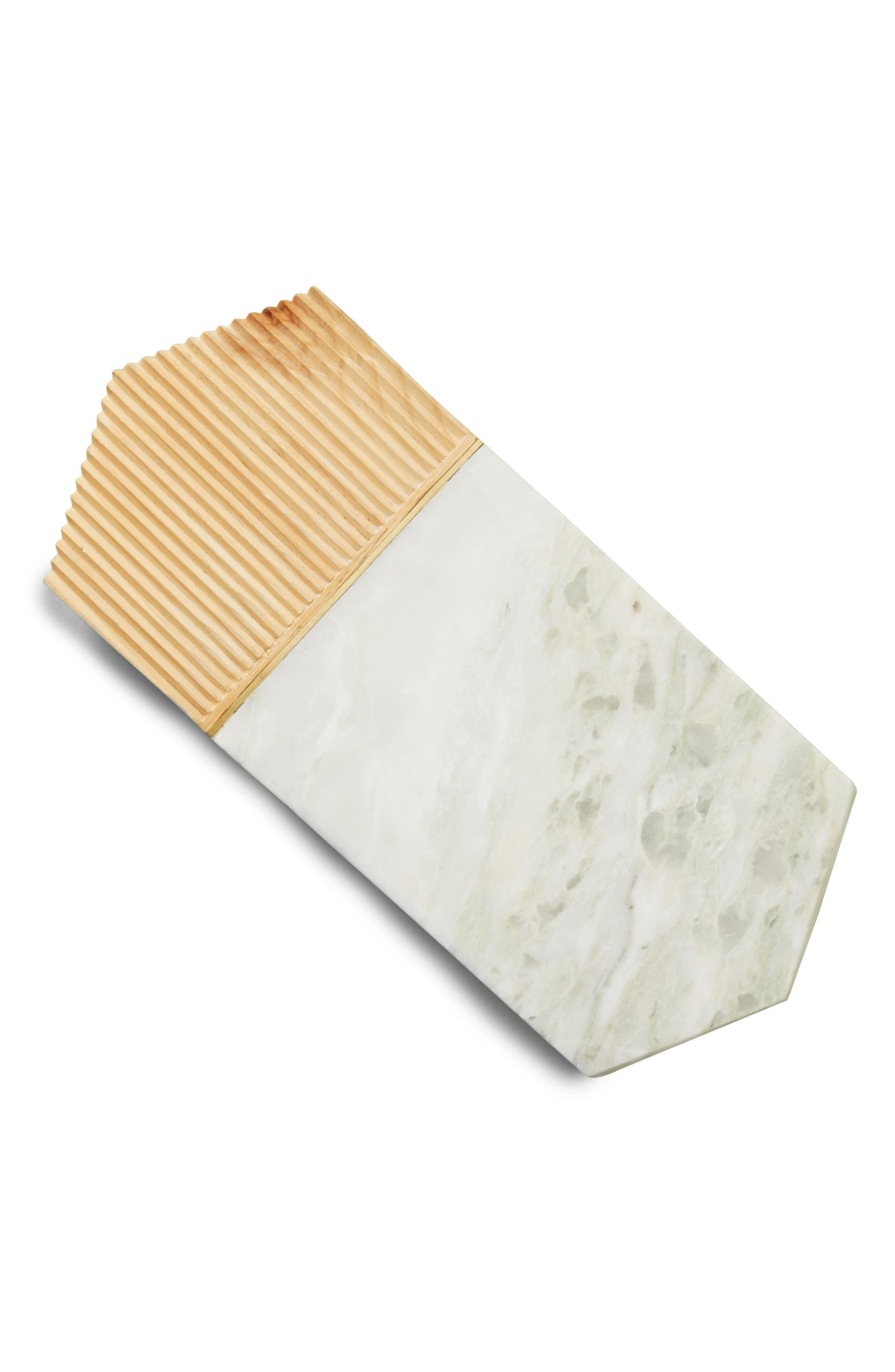 Karala Pinewood & Marble Cheese Board,                             Alternate thumbnail 3, color,                             White