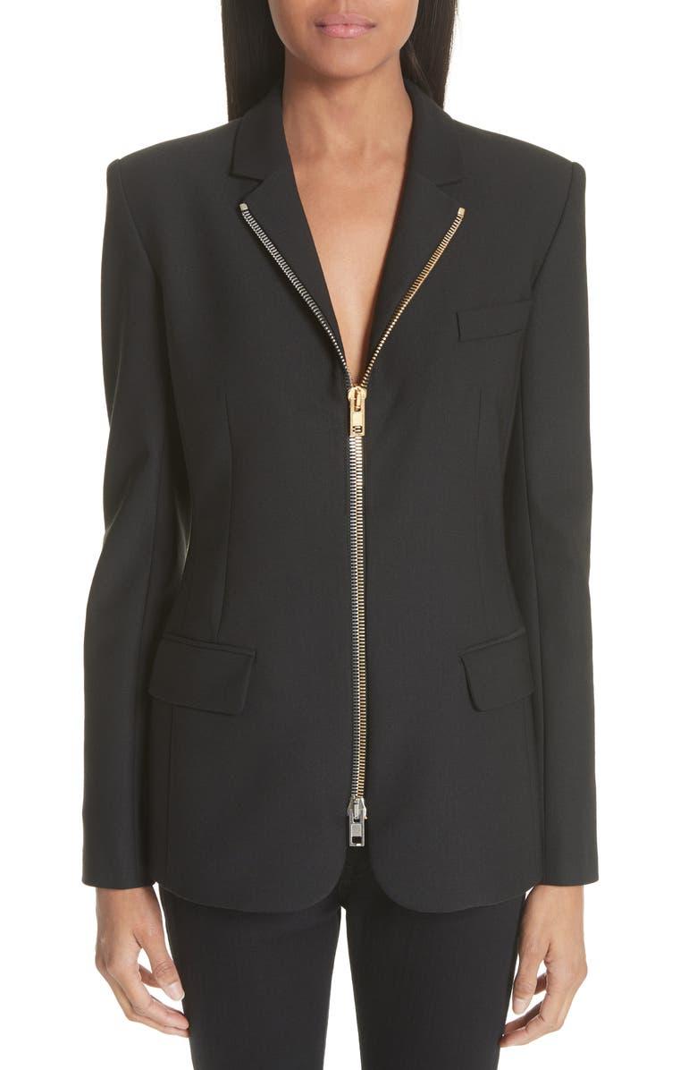 Zip Front Blazer