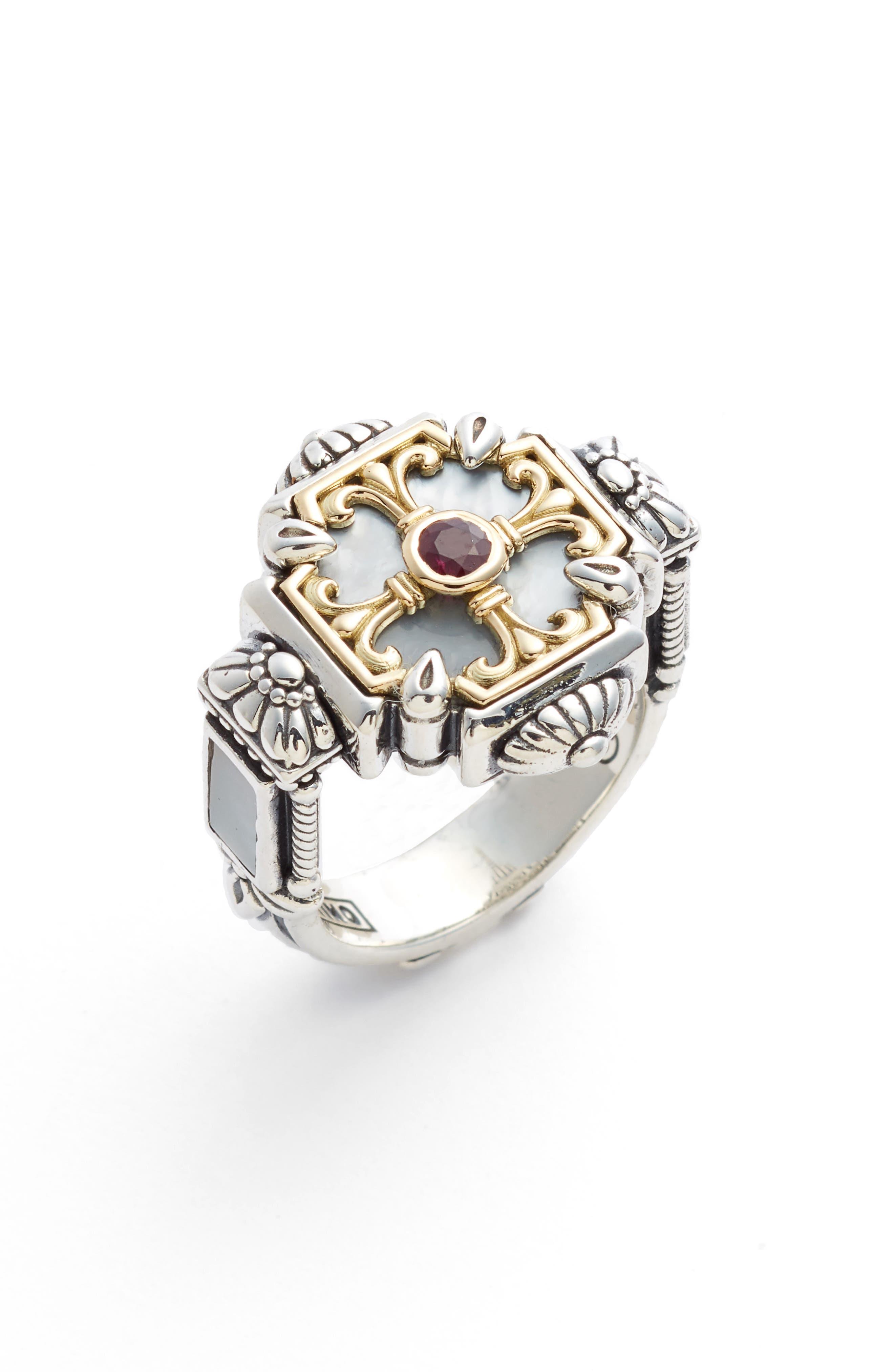 Konstantino Sterling Silver & Ruby Ring