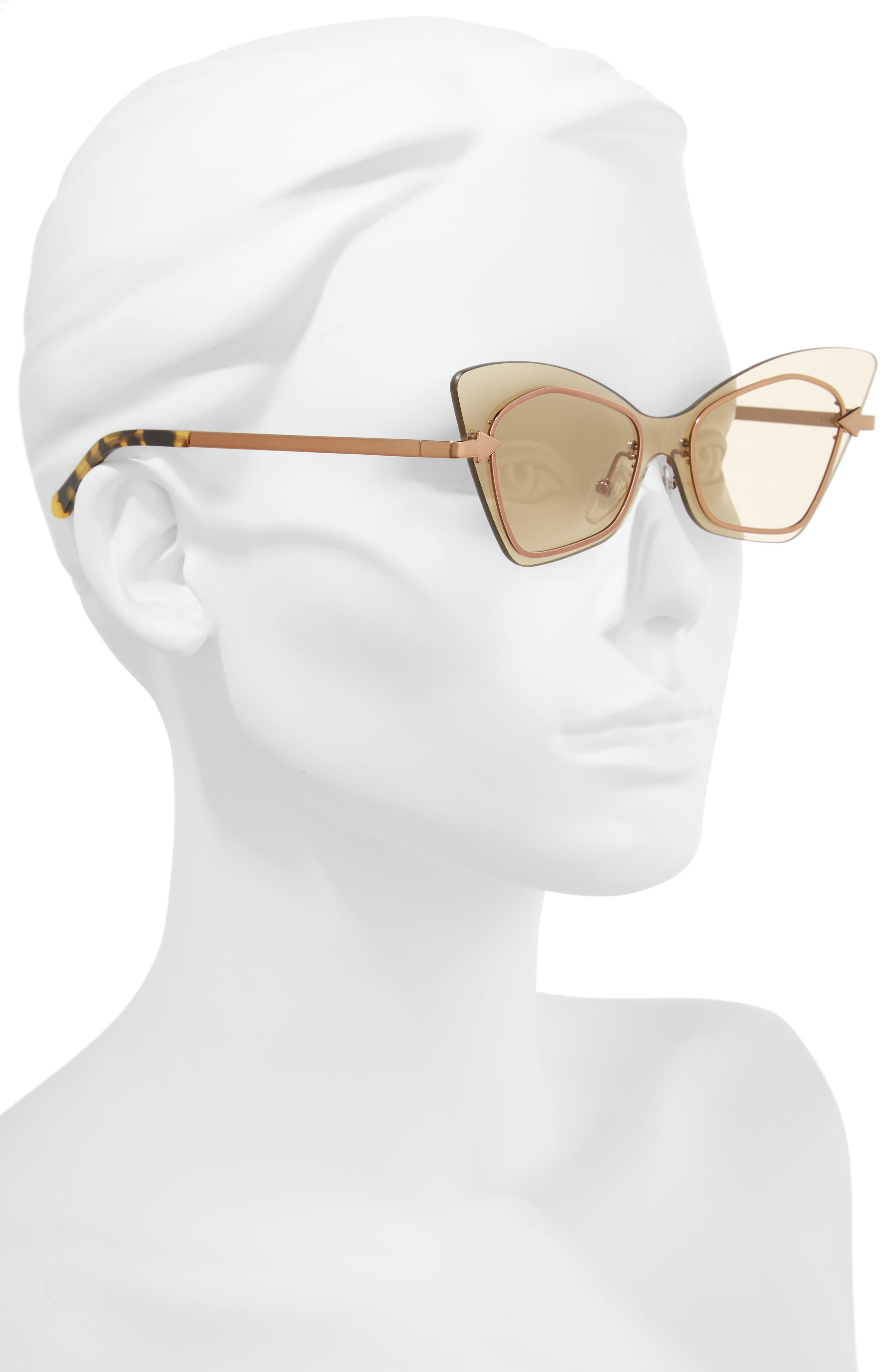 Mrs. Brill 53mm Cat Eye Sunglasses,                             Alternate thumbnail 2, color,                             Crazy Tortoise