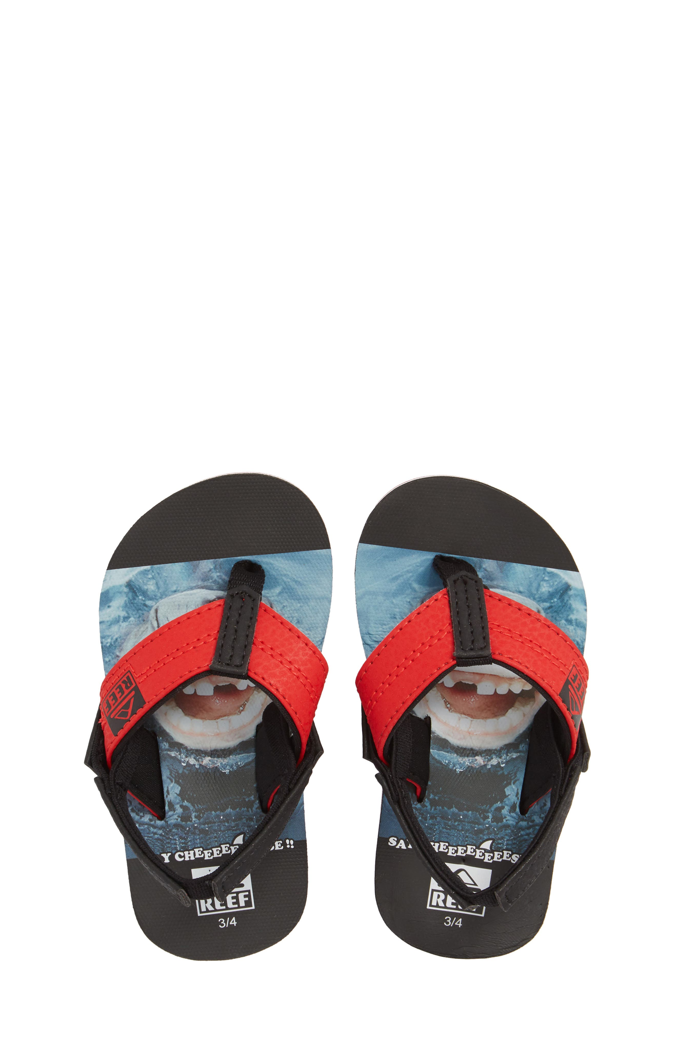 Grom Photo Print Flip Flop,                         Main,                         color, Red