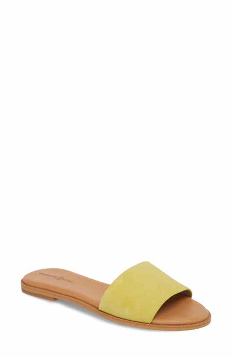 Mustard Yellow Flat Shoes For Ladies