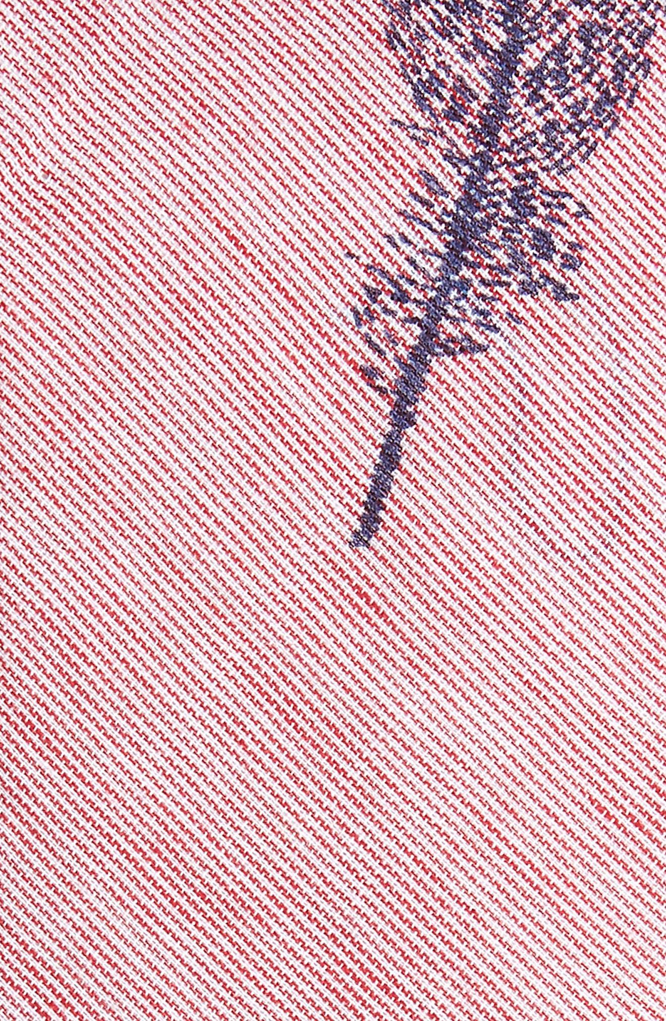 Glenvale Print Cotton Skinny Tie,                             Alternate thumbnail 2, color,                             Red