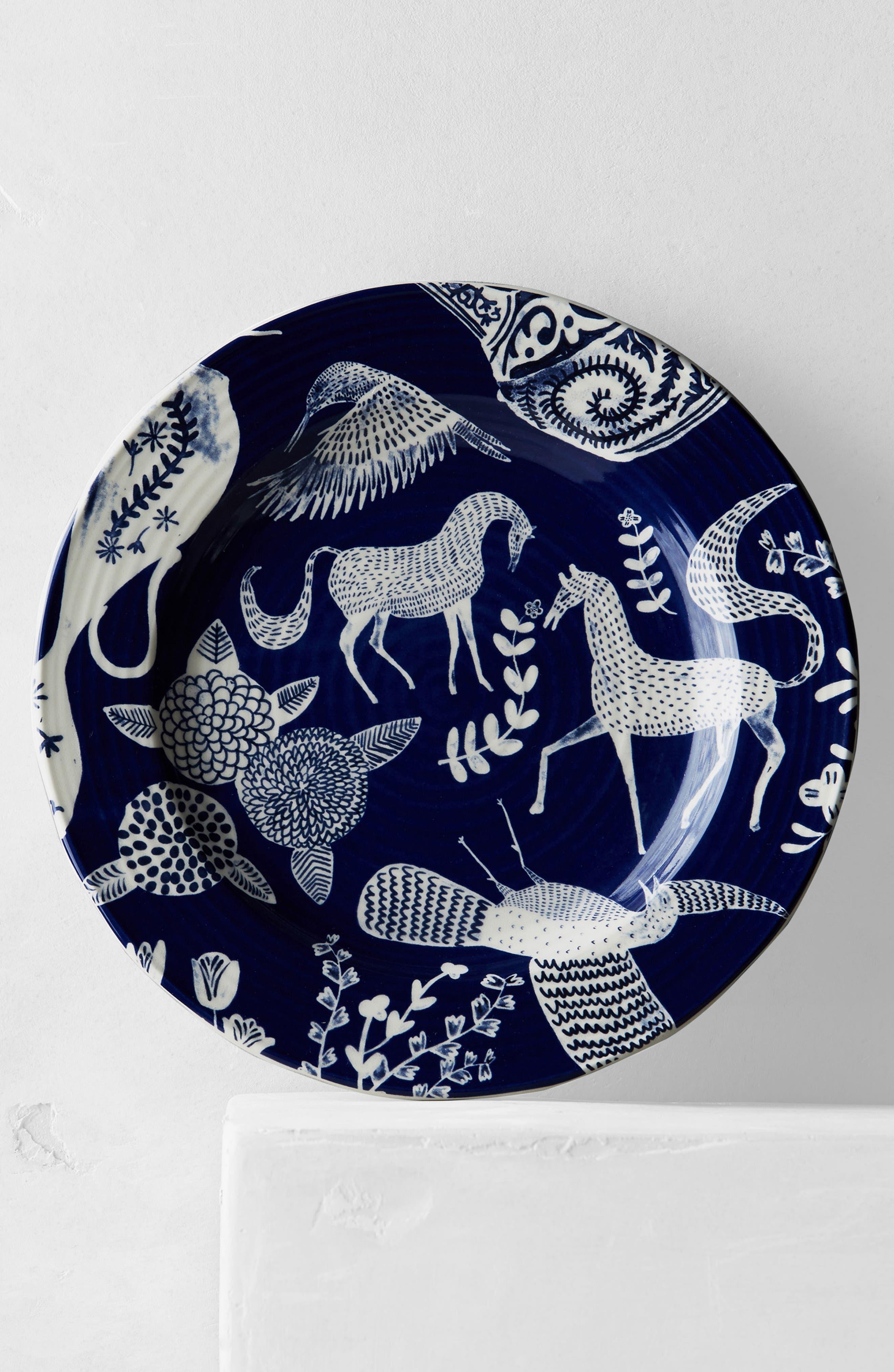 Saga Ceramic Side Plate,                             Alternate thumbnail 3, color,                             Dark Blue