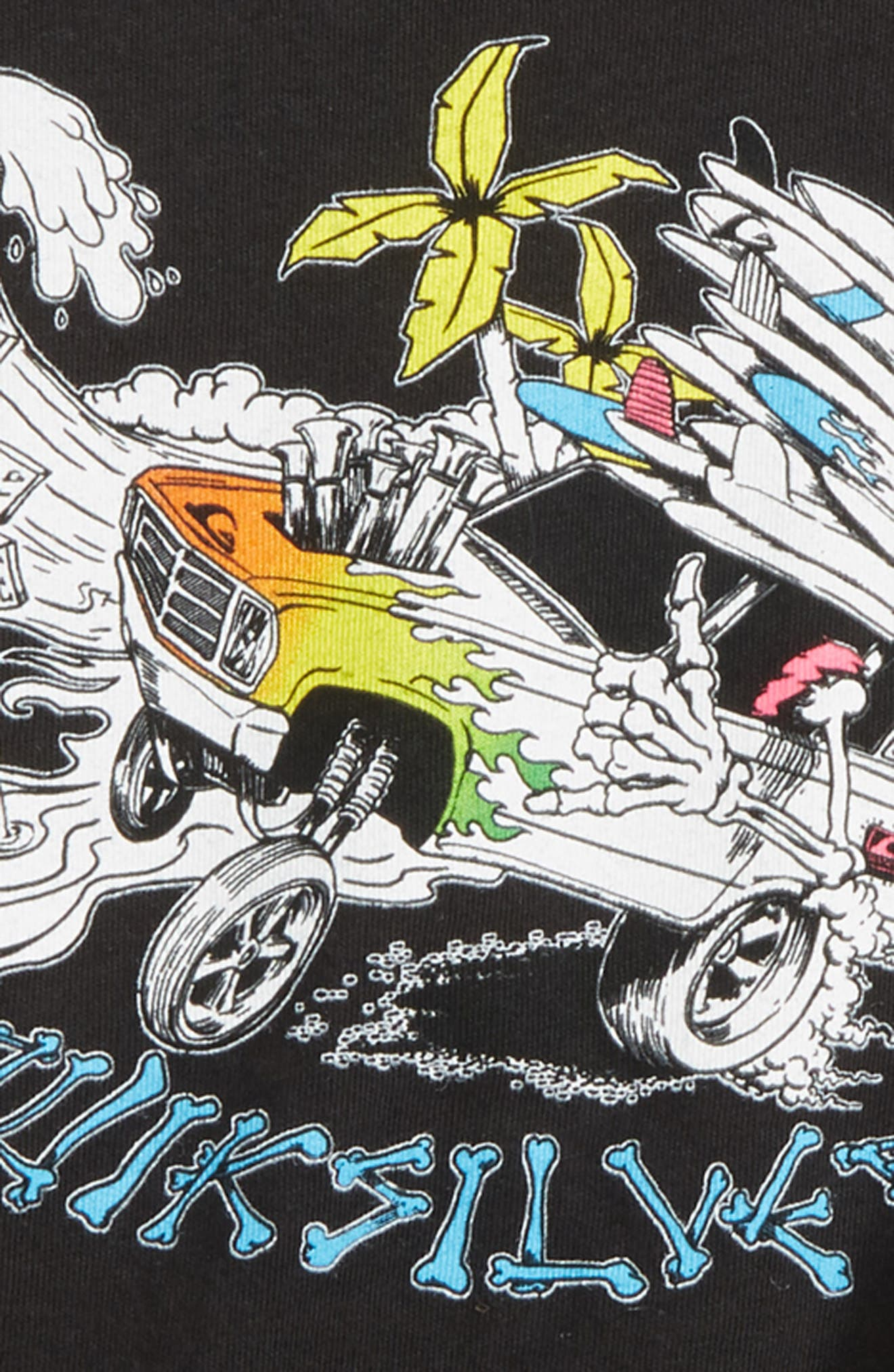Days On T-Shirt,                             Alternate thumbnail 2, color,                             Black