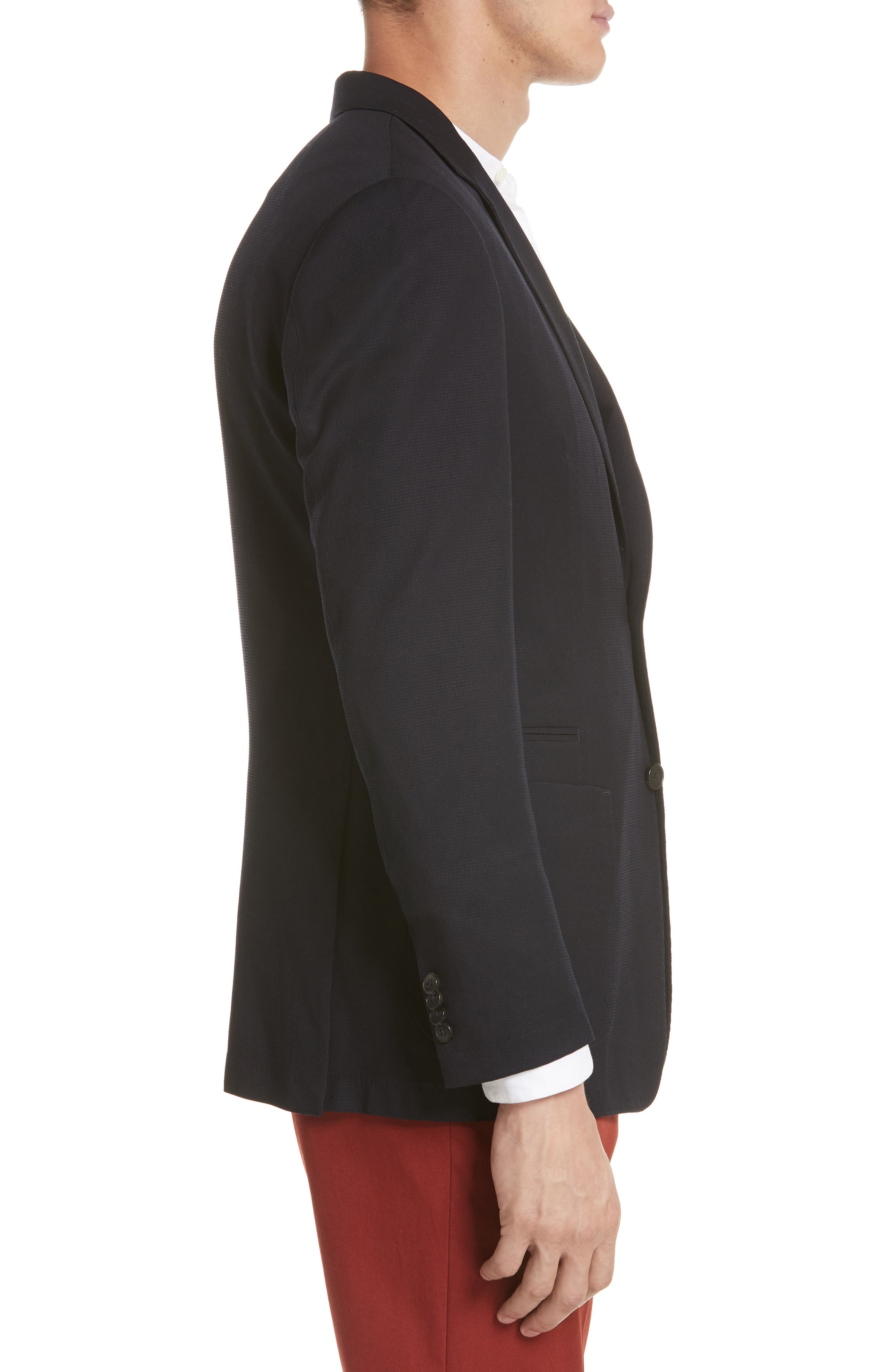 TECHMERINO<sup>™</sup> Wash & Go Classic Fit Wool Blazer,                             Alternate thumbnail 3, color,                             Navy Solid