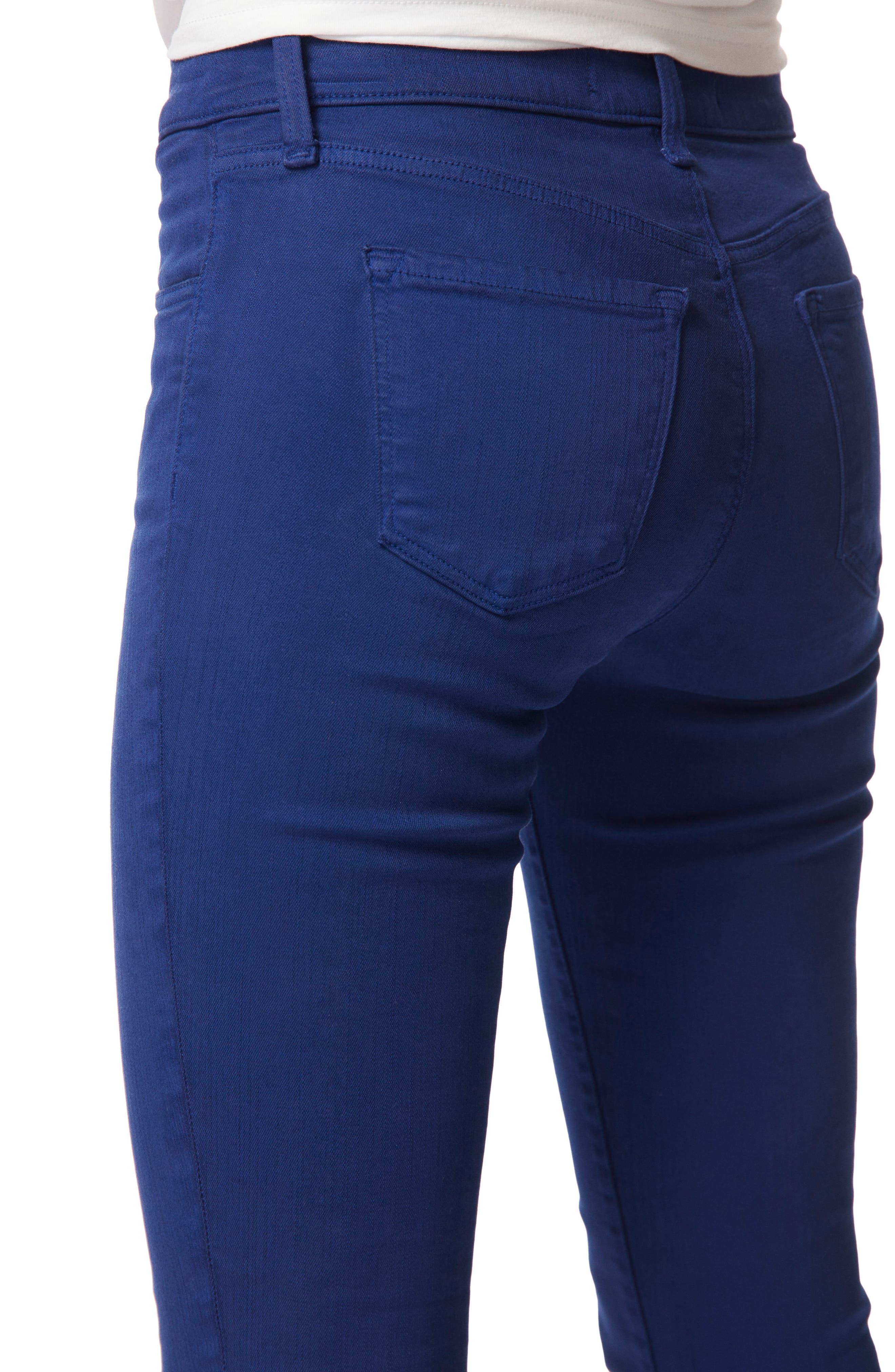 620 Mid Rise Super Skinny Jeans,                             Alternate thumbnail 4, color,                             Electric Sea Destruct