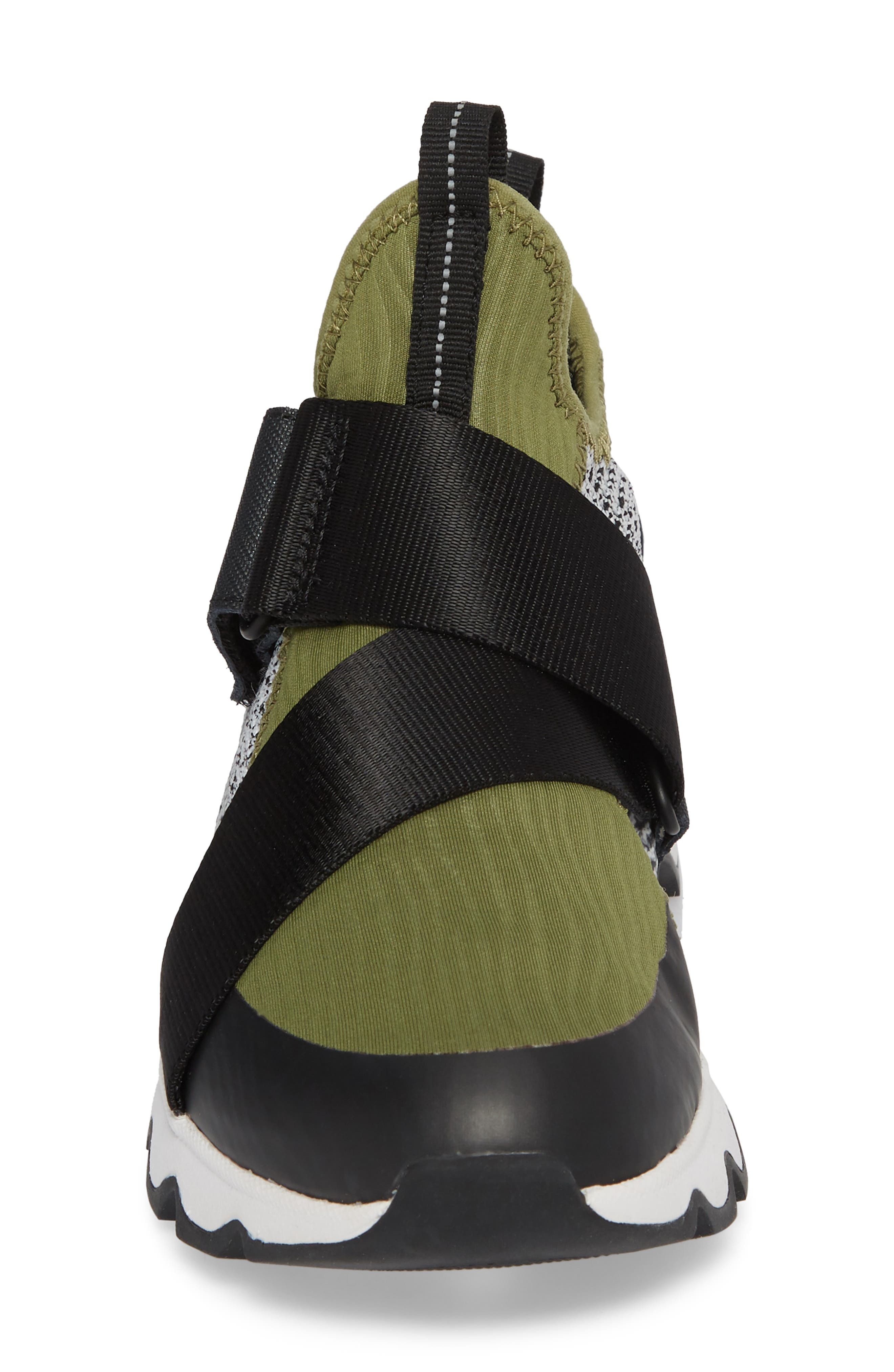 Kinetic Sneak High Top Sneaker,                             Alternate thumbnail 4, color,                             Olive Drab/ White