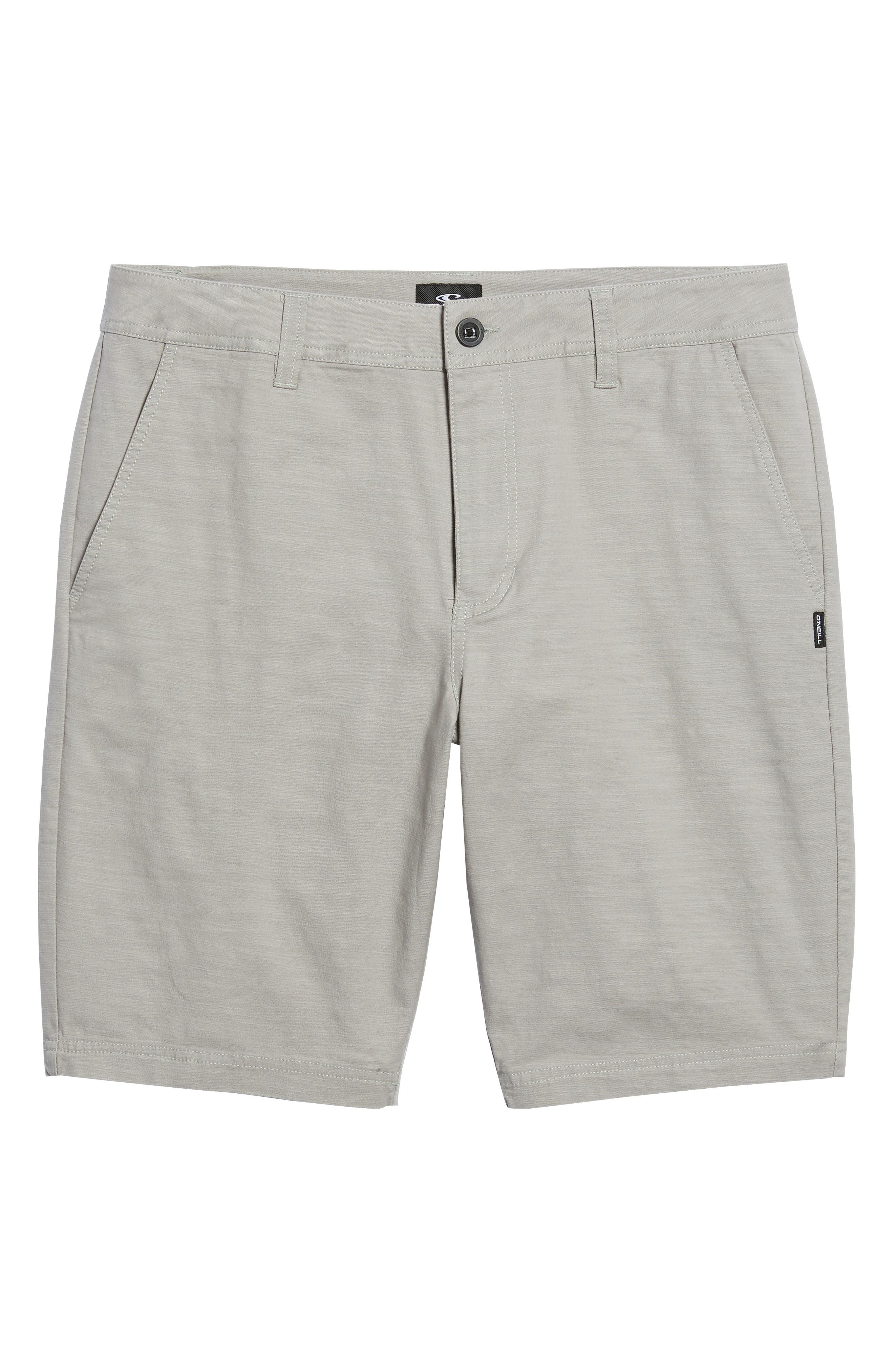 Jay Stretch Chino Shorts,                             Alternate thumbnail 6, color,                             Light Grey