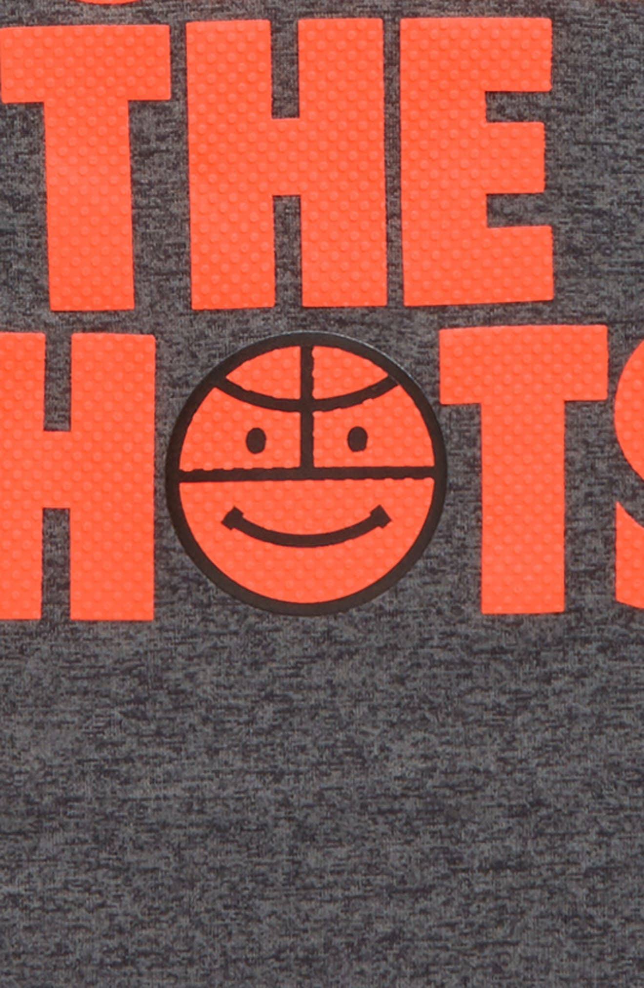 I Call the Shots Graphic HeatGear<sup>®</sup> T-Shirt,                             Alternate thumbnail 2, color,                             Carbon Heather
