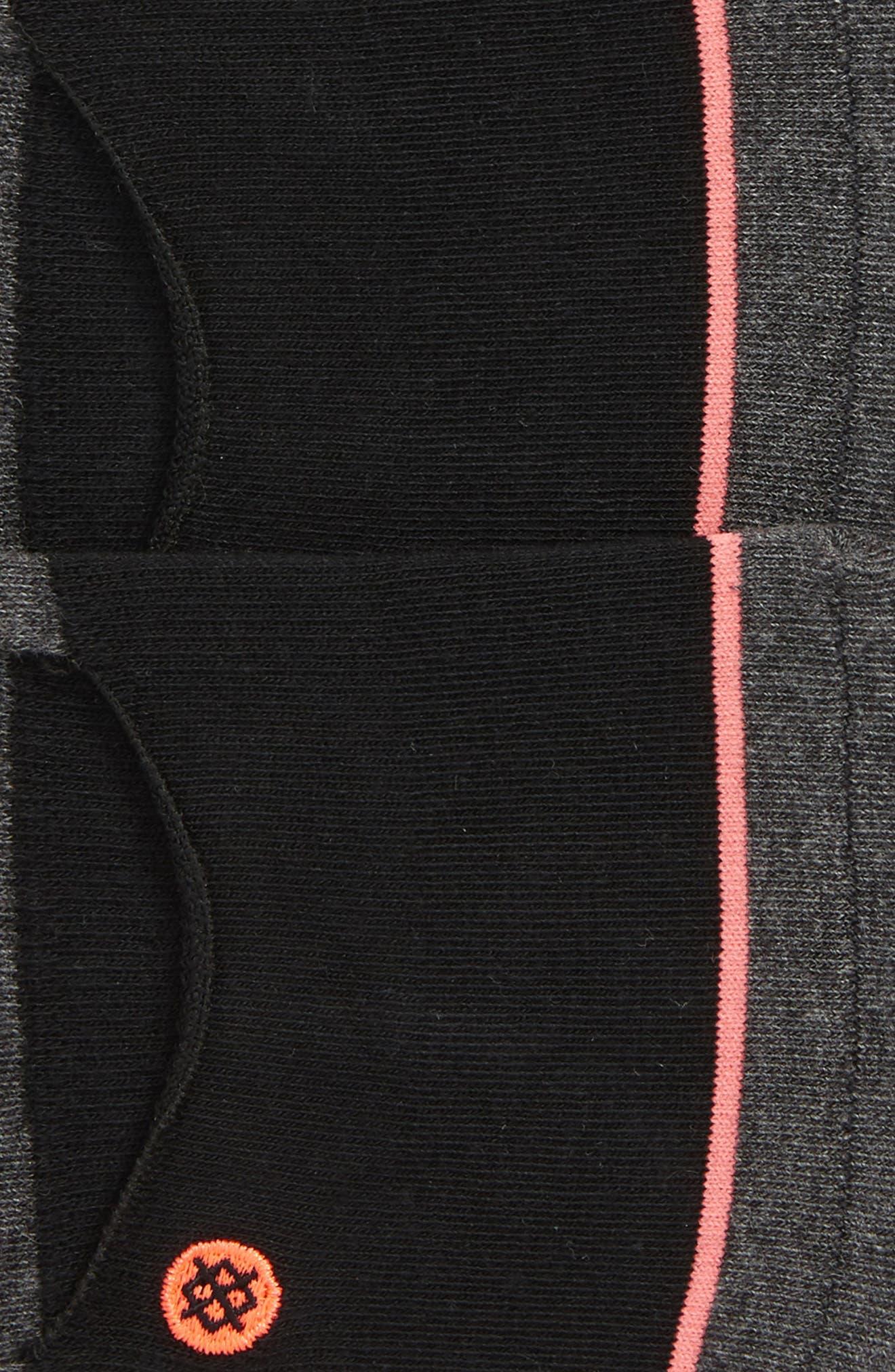 Invisible 3-Pack No-Show Socks,                             Alternate thumbnail 2, color,                             Black