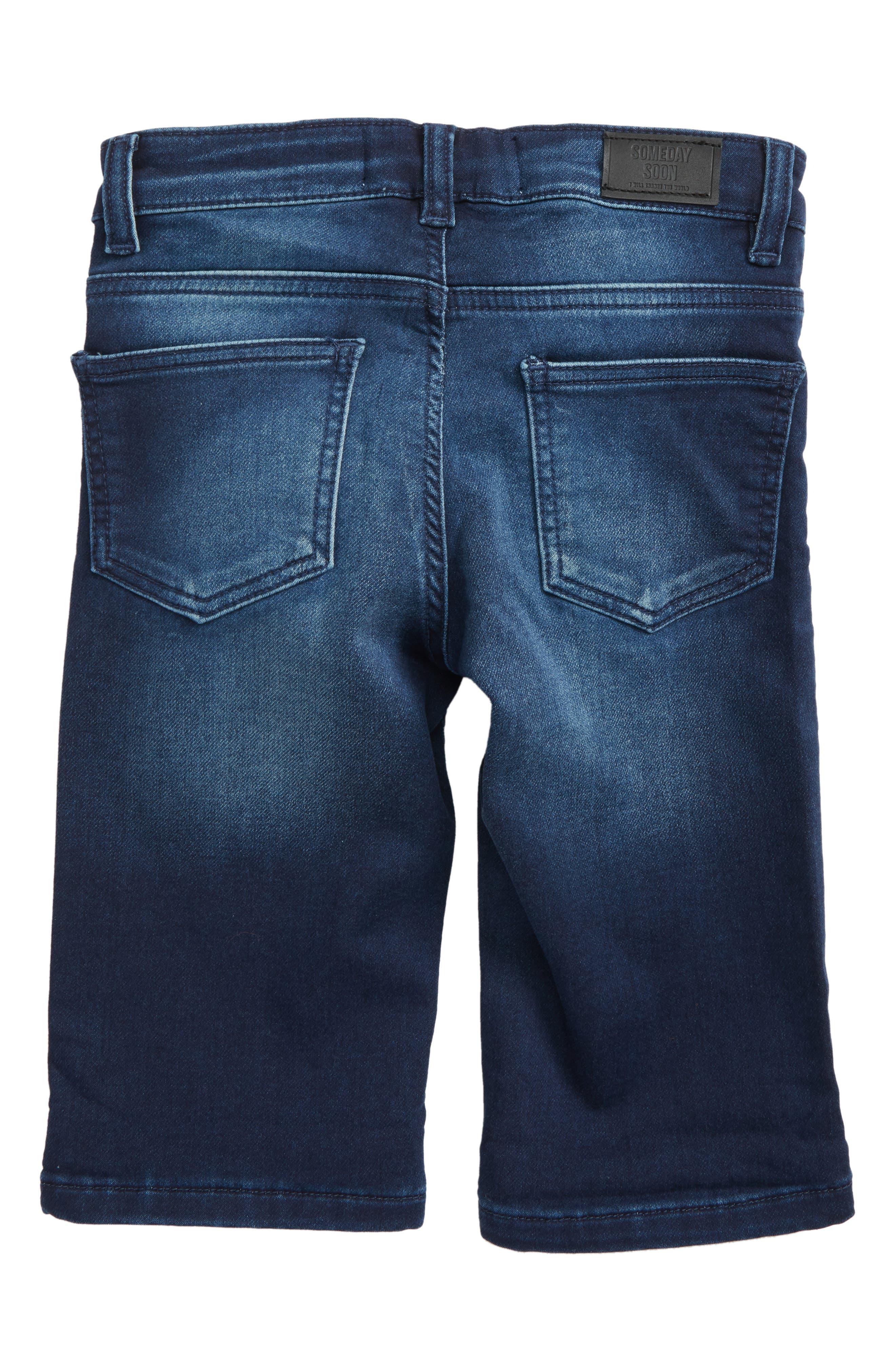 Carl Denim Shorts,                             Alternate thumbnail 2, color,                             Blue