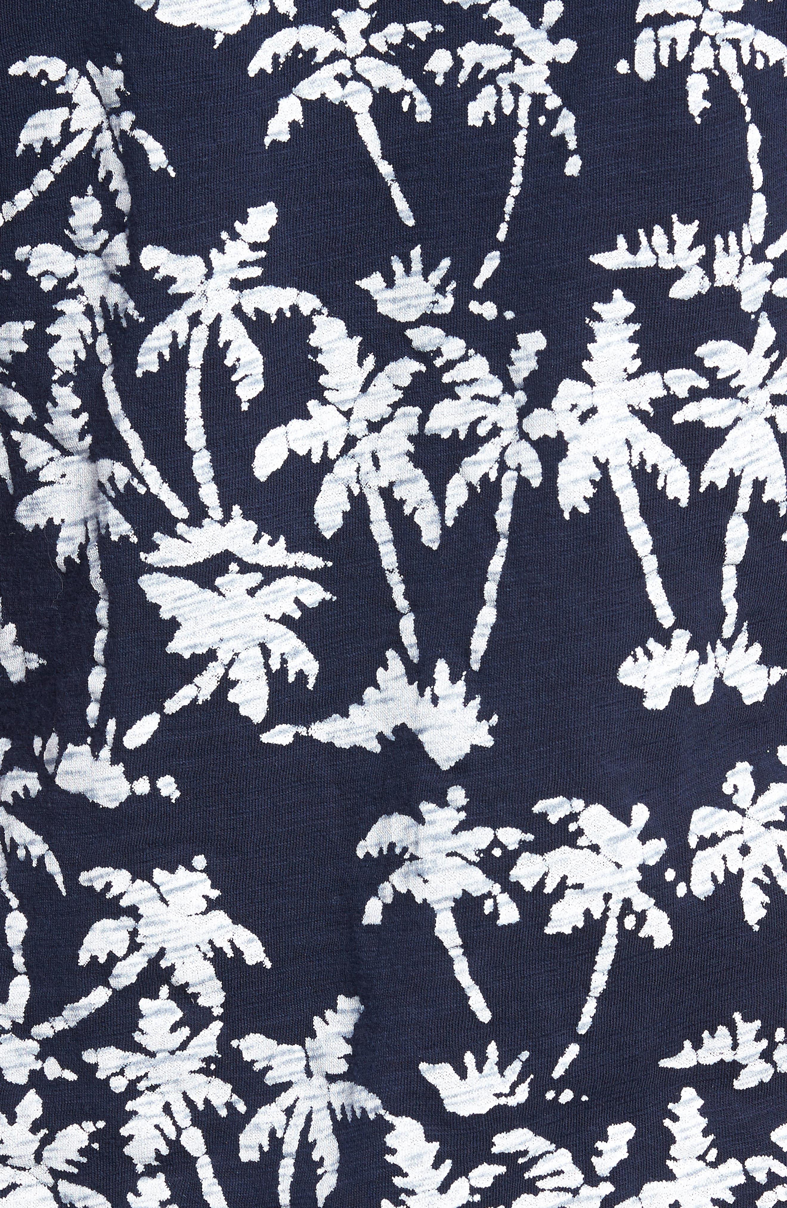 Print Henley T-Shirt,                             Alternate thumbnail 5, color,                             Batik Palms